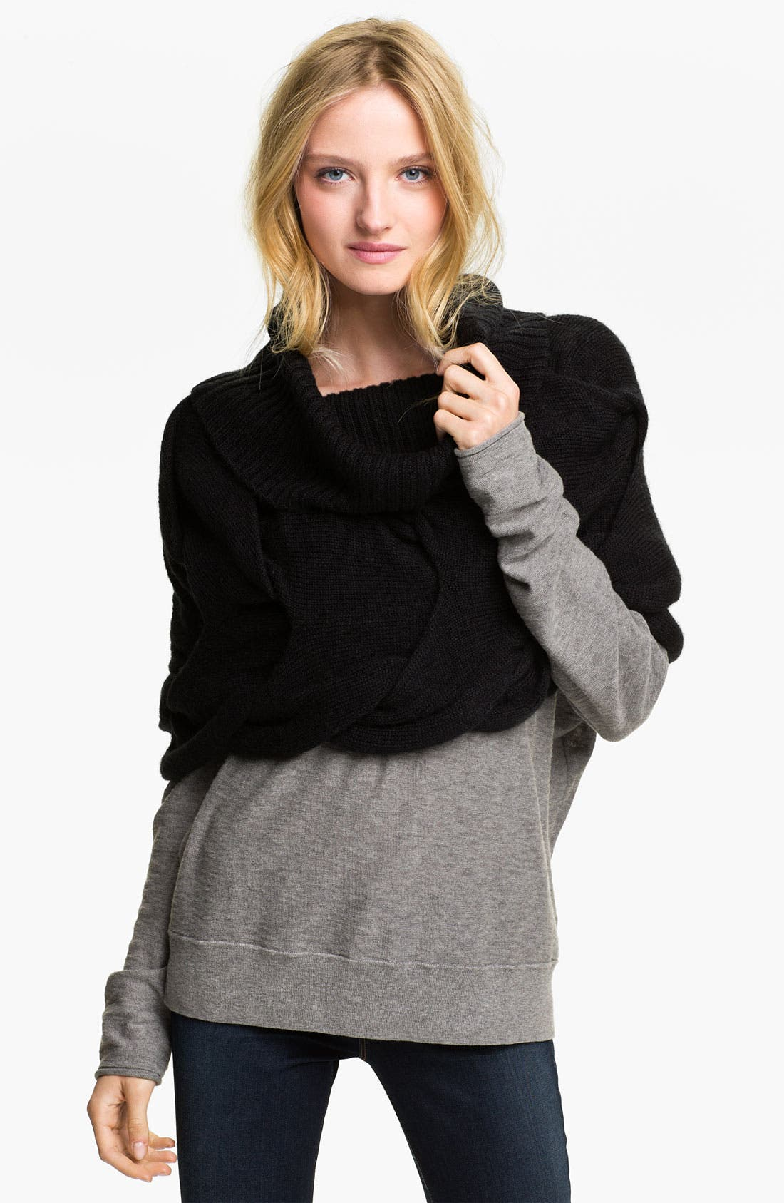 Scrunched Snood,                         Main,                         color, 001