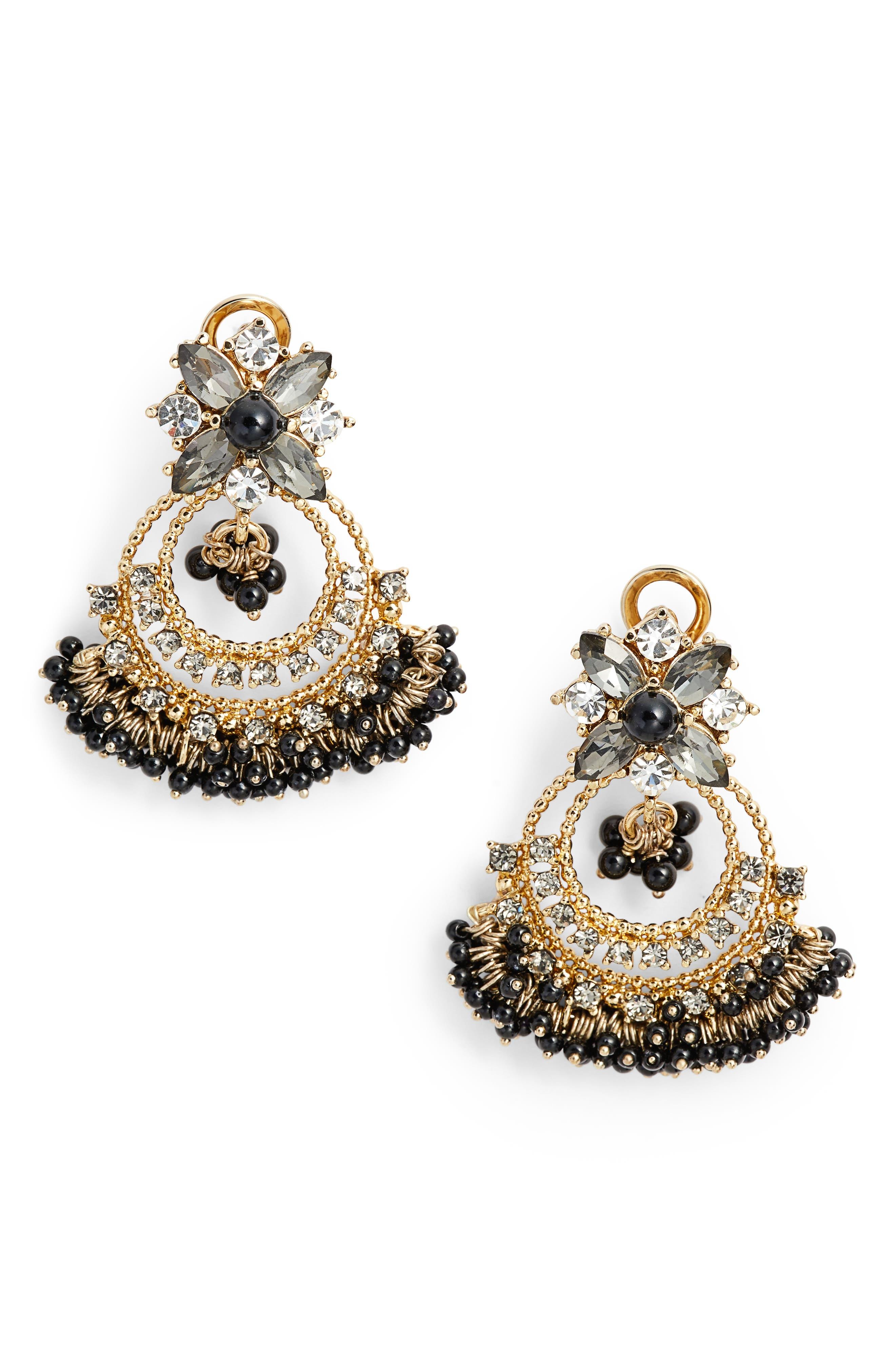 Crystal Chandelier Drop Earrings,                             Main thumbnail 1, color,                             001