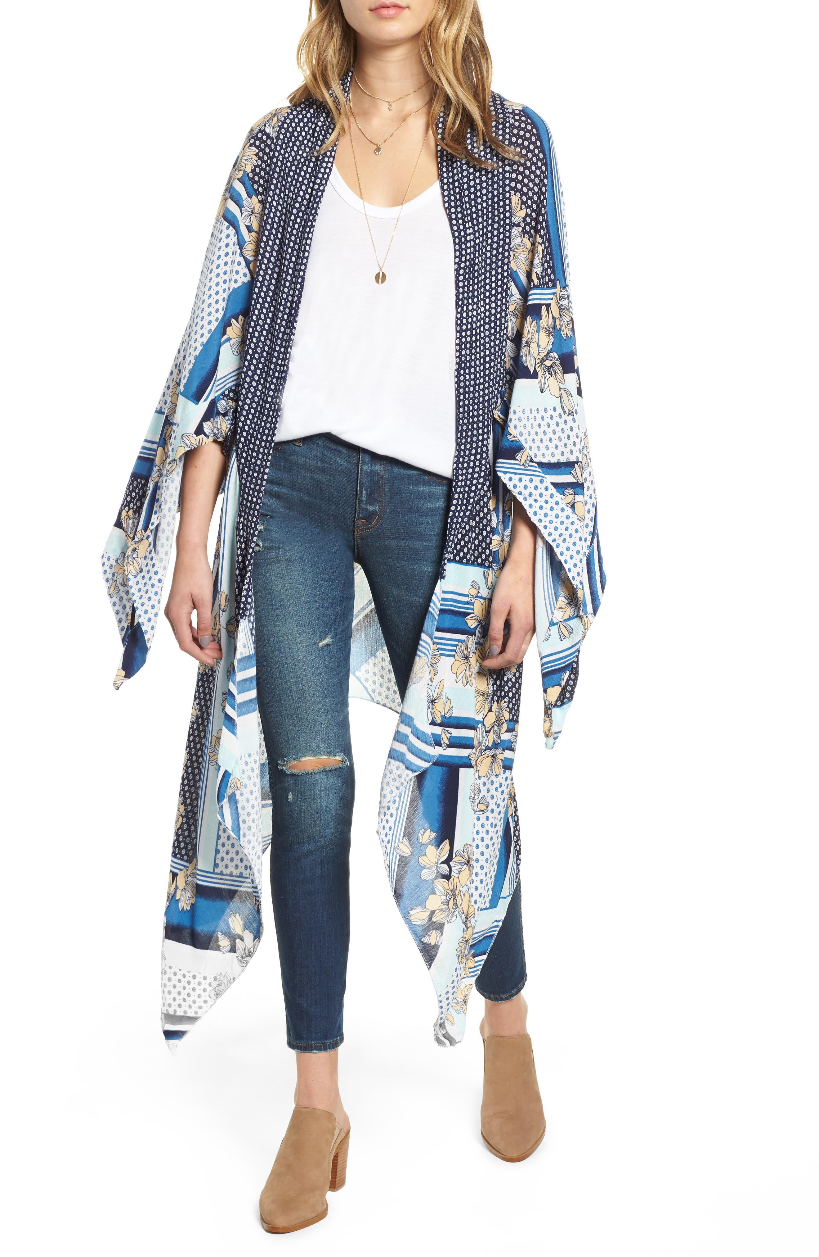 Morning Glory Kimono,                         Main,                         color, MULTI