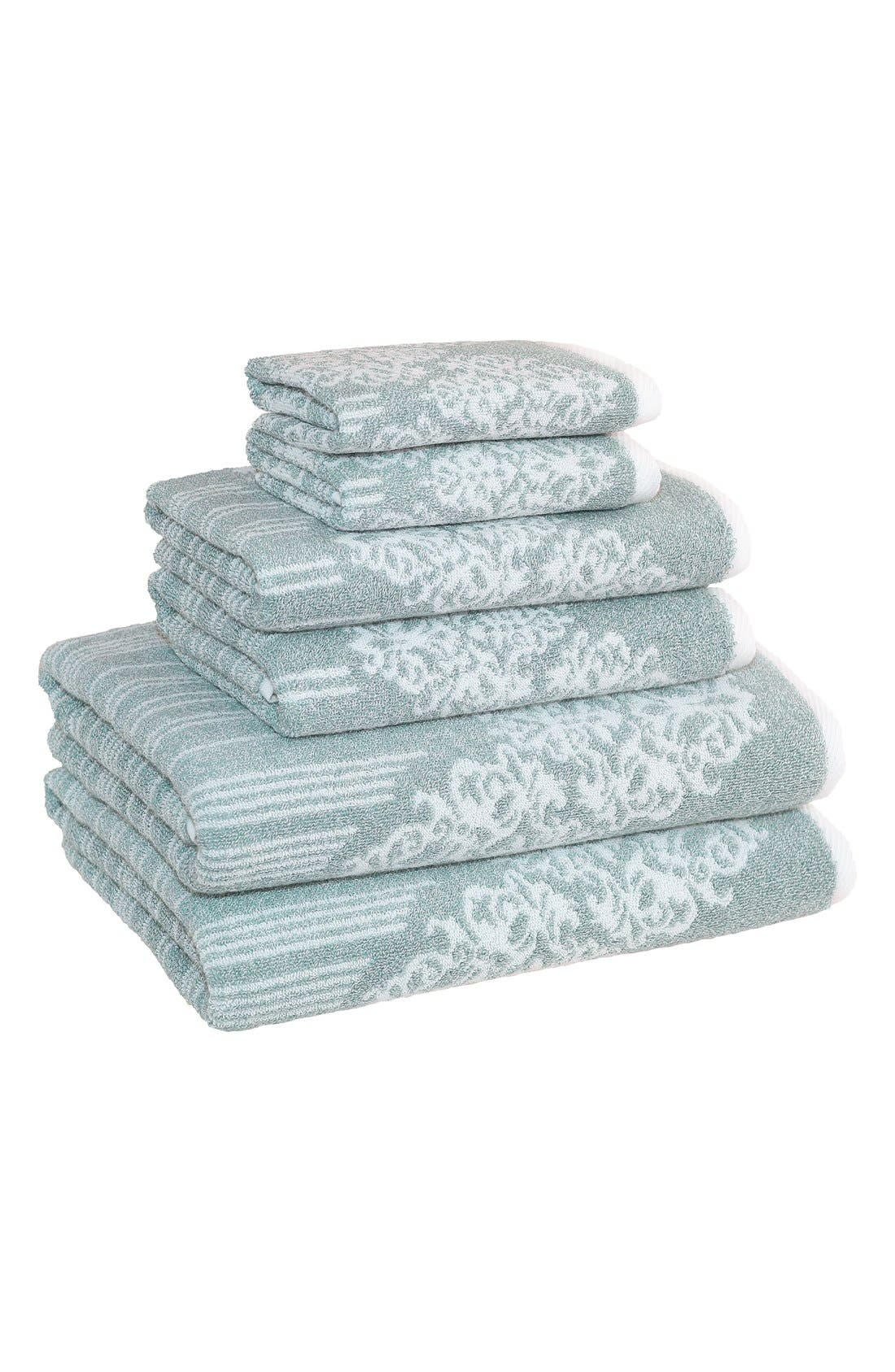 Linum 'Gioia' Bath Towels, Hand Towels & Washcloths,                             Main thumbnail 1, color,                             440
