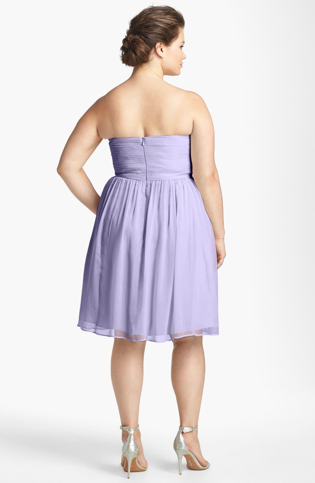 'Morgan' Strapless Silk Chiffon Dress,                             Main thumbnail 17, color,