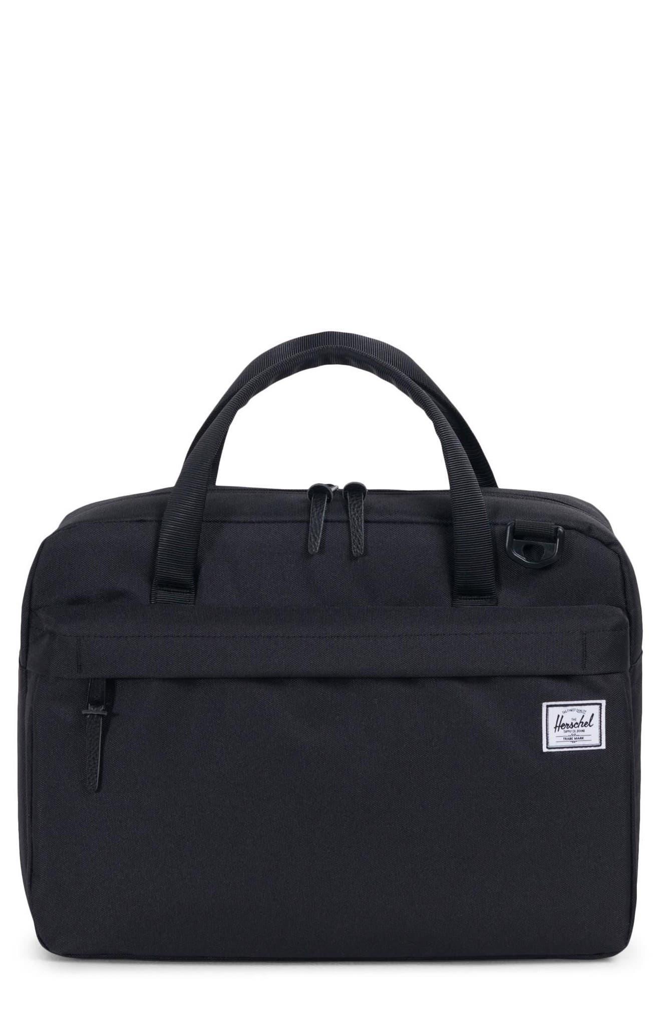 Gibson Messenger Bag,                             Main thumbnail 1, color,                             BLACK