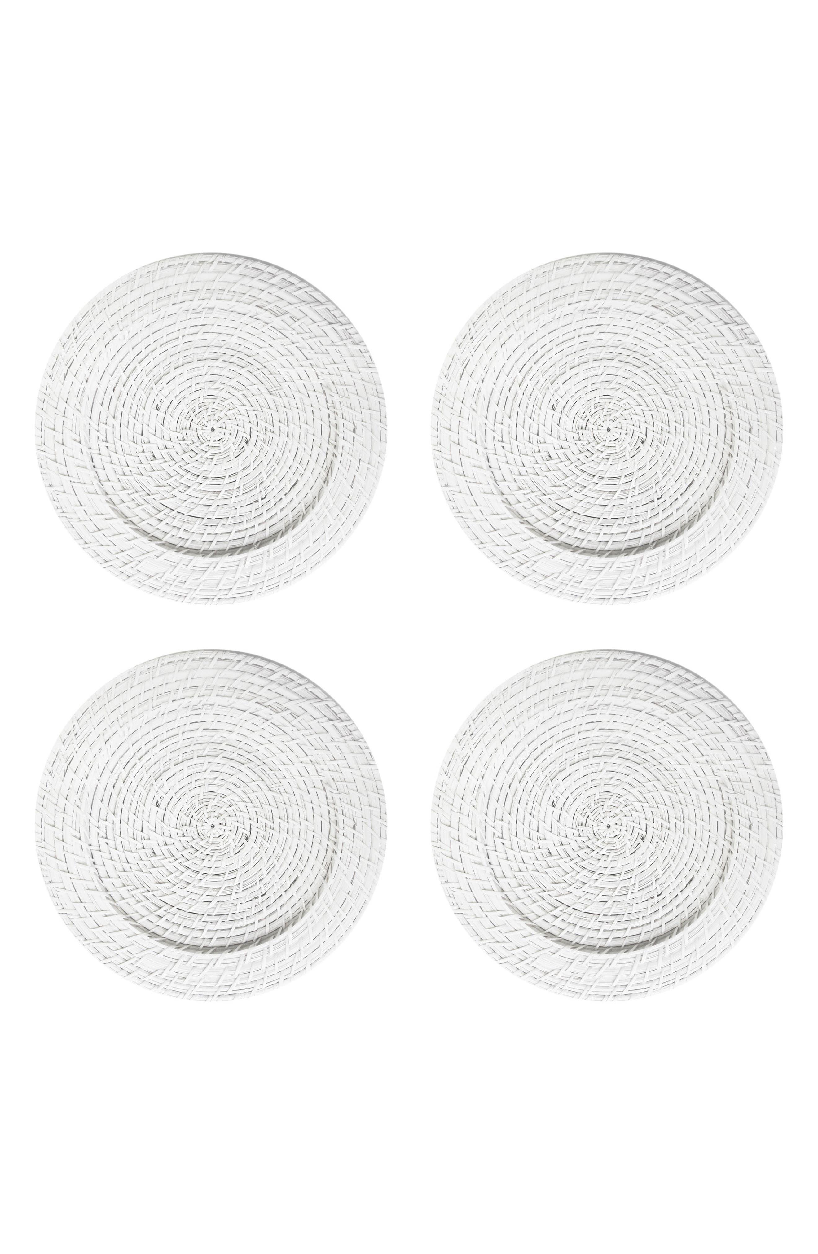 Set of 4 Rattan Charger Plates,                             Main thumbnail 1, color,                             100