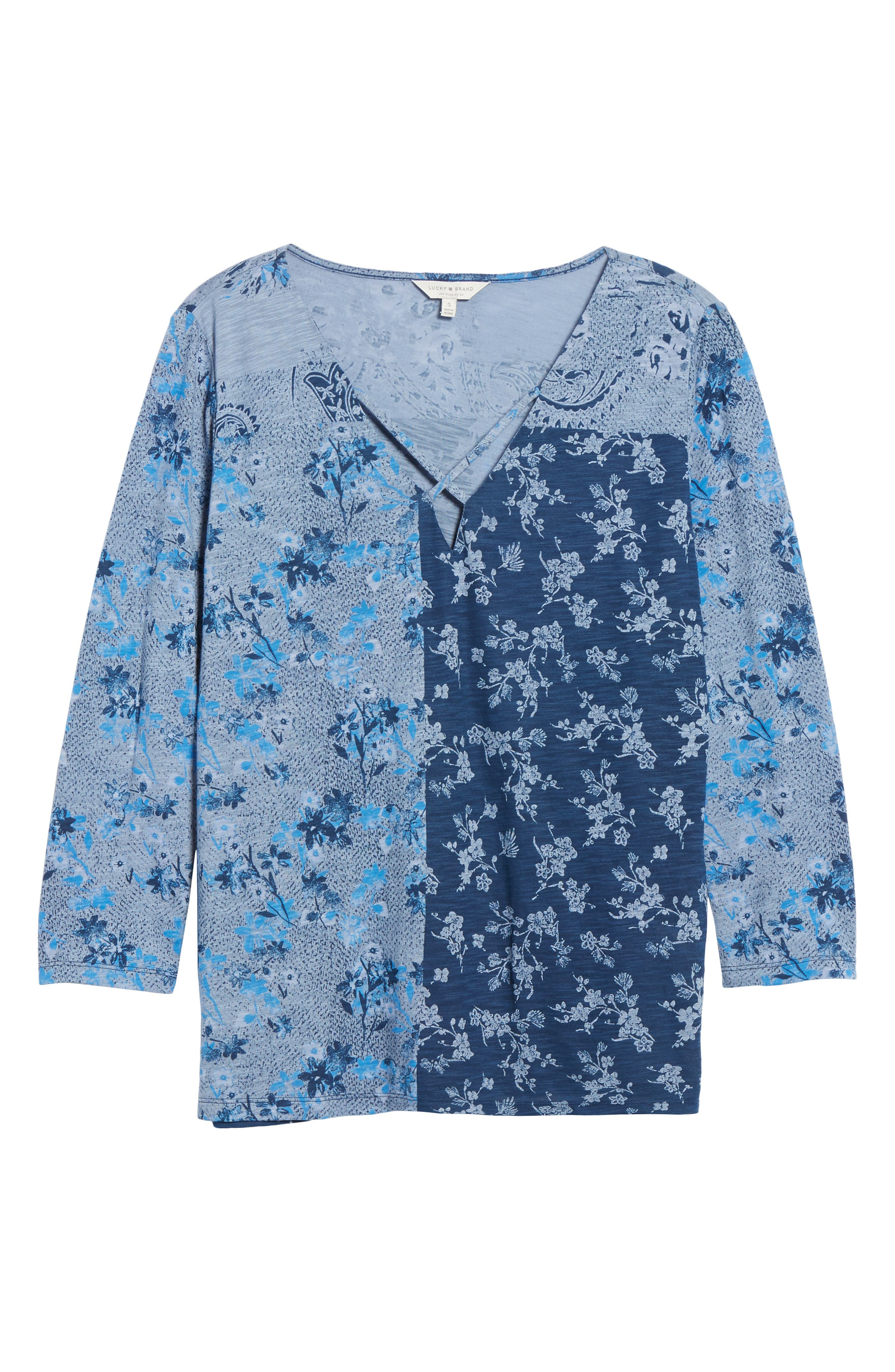 Madeline Floral Tee,                             Alternate thumbnail 6, color,                             460