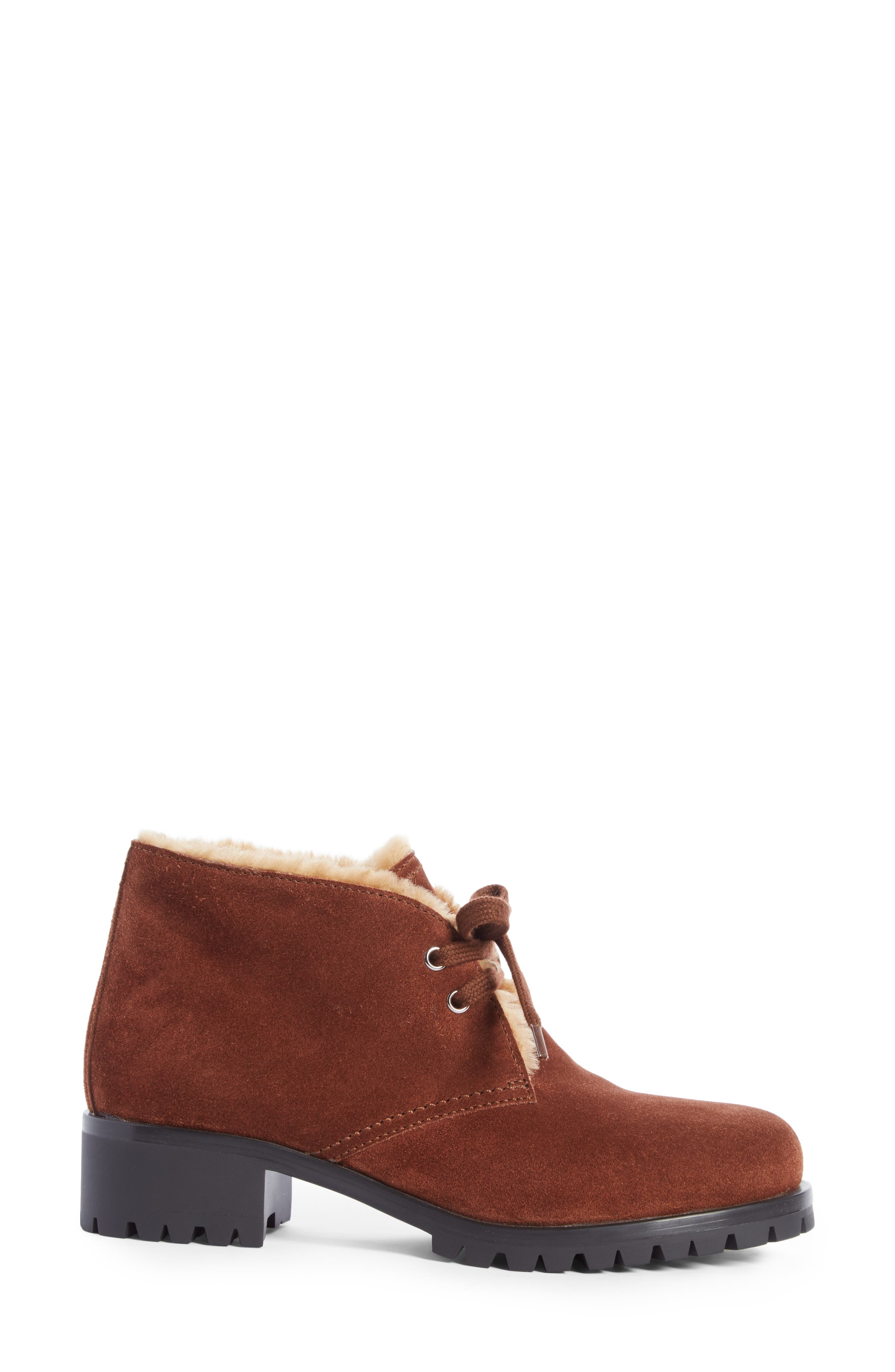 Genuine Shearling Lined Bootie,                             Alternate thumbnail 6, color,