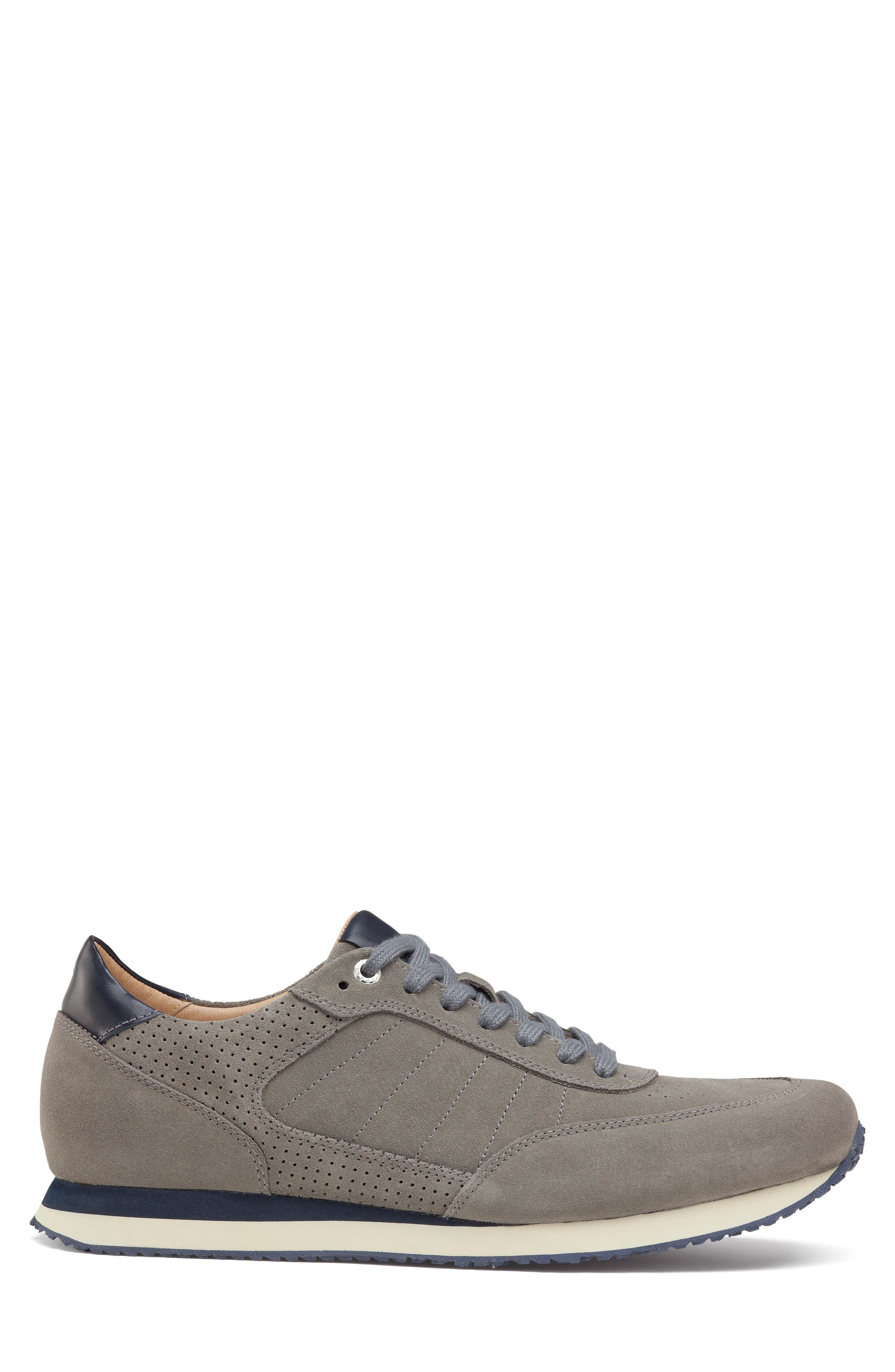Aiden Sneaker,                             Alternate thumbnail 3, color,                             GREY SUEDE