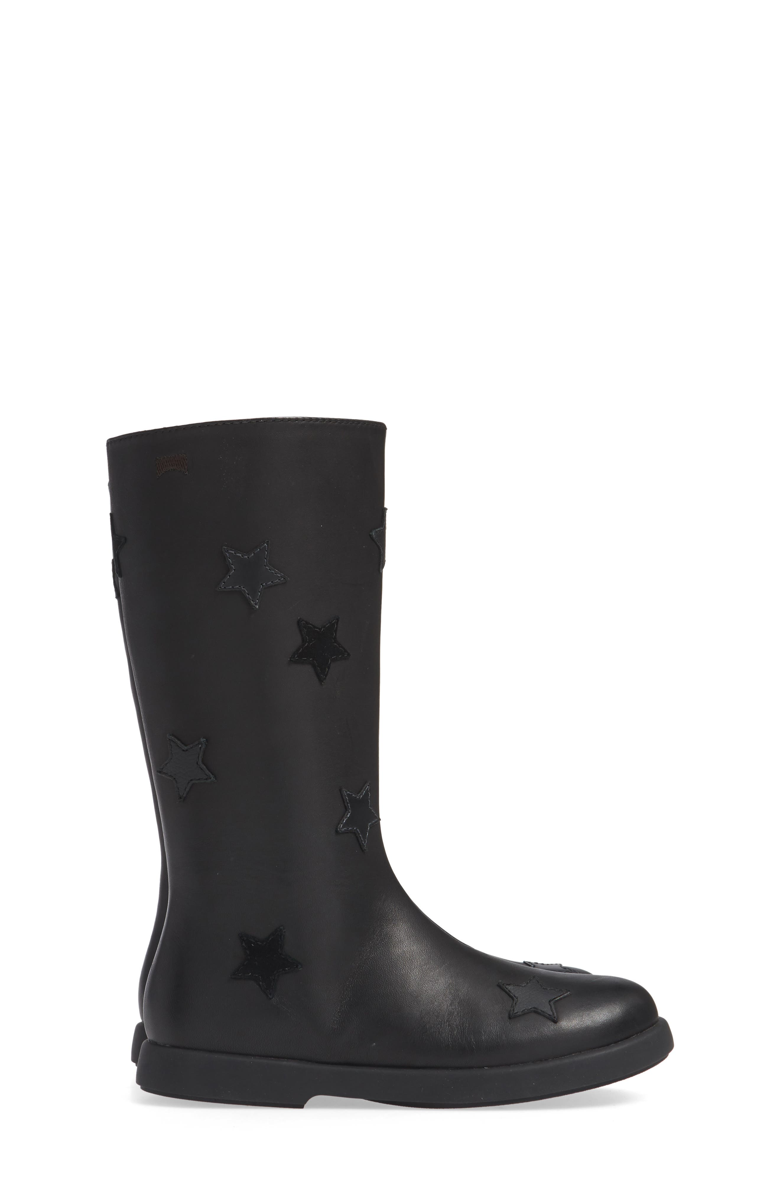 Star Appliqué Tall Boot,                             Alternate thumbnail 4, color,                             BLACK