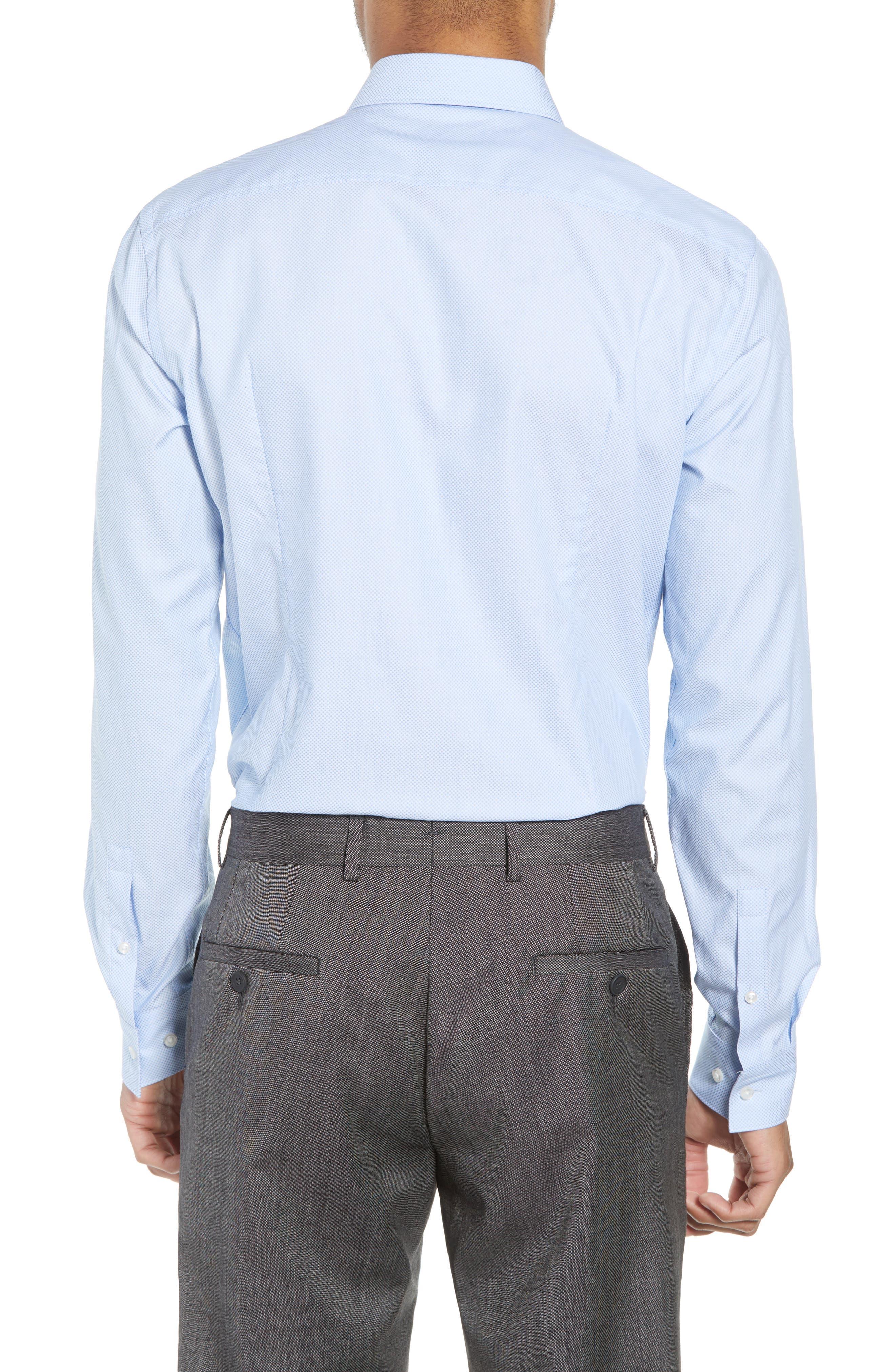 Ismo Slim Fit Dot Dress Shirt,                             Alternate thumbnail 3, color,                             450