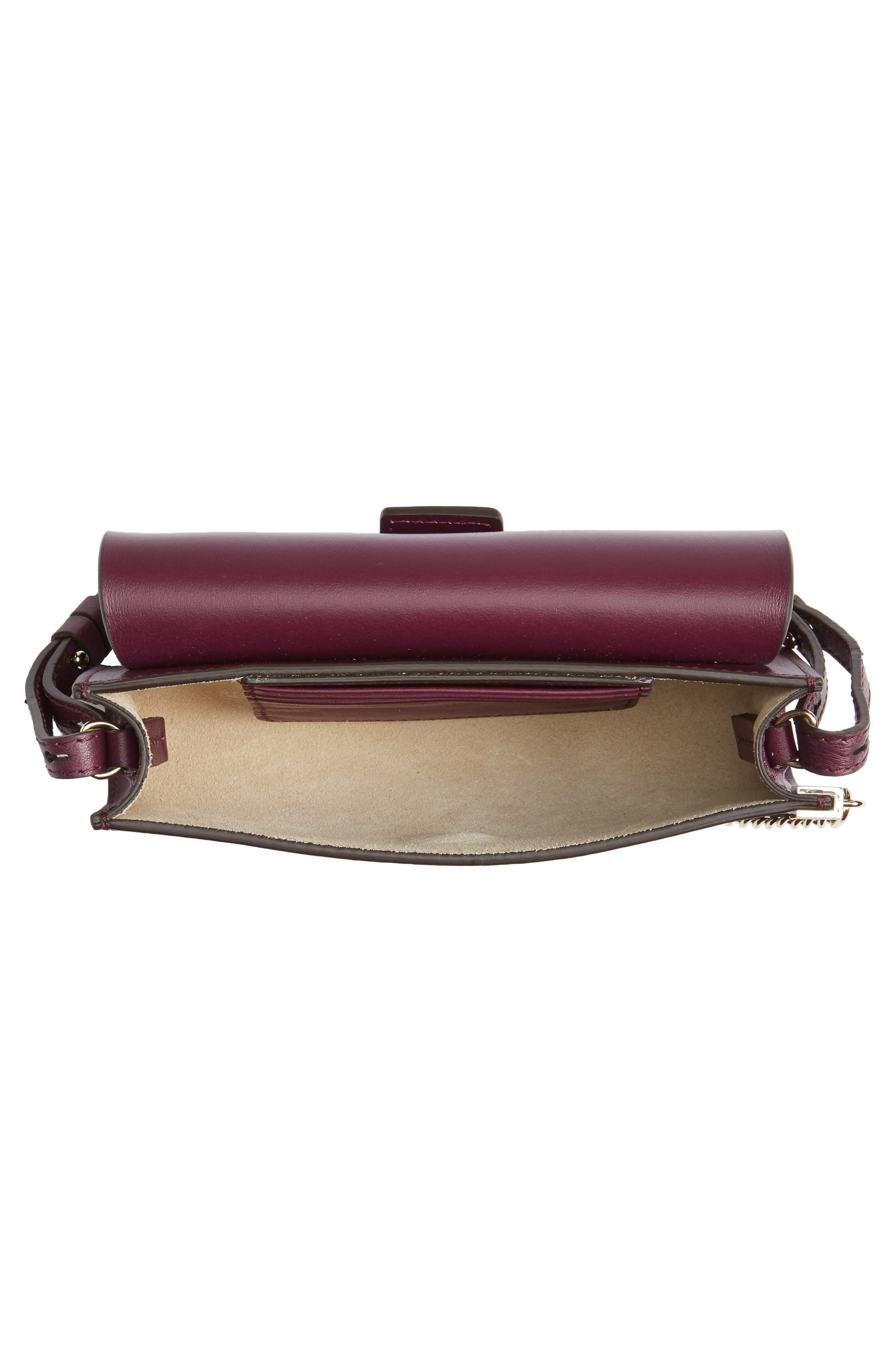 Faye Leather & Suede Wallet on a Strap,                             Alternate thumbnail 8, color,