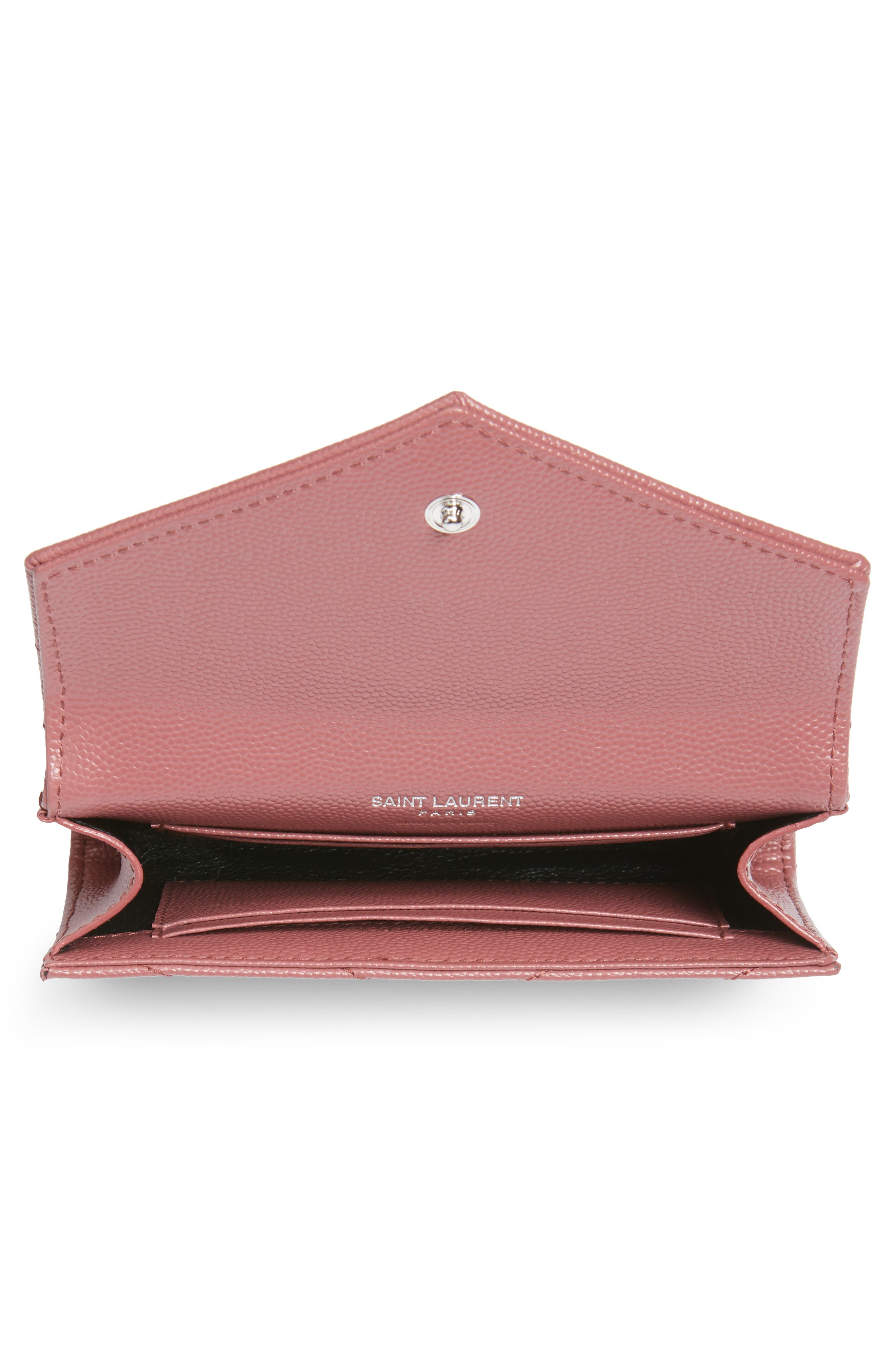 'Small Monogram' Leather French Wallet,                             Alternate thumbnail 11, color,