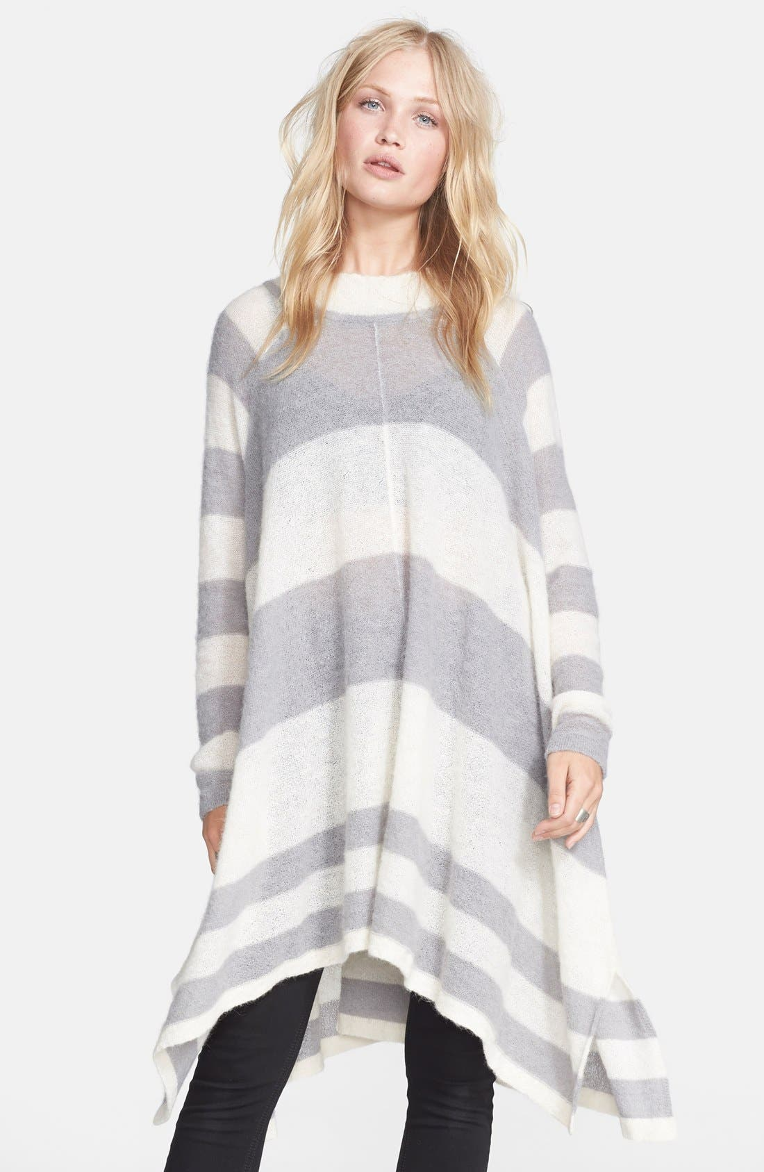FREE PEOPLE 'Lafayette' Stripe Alpaca Blend Poncho, Main, color, 020