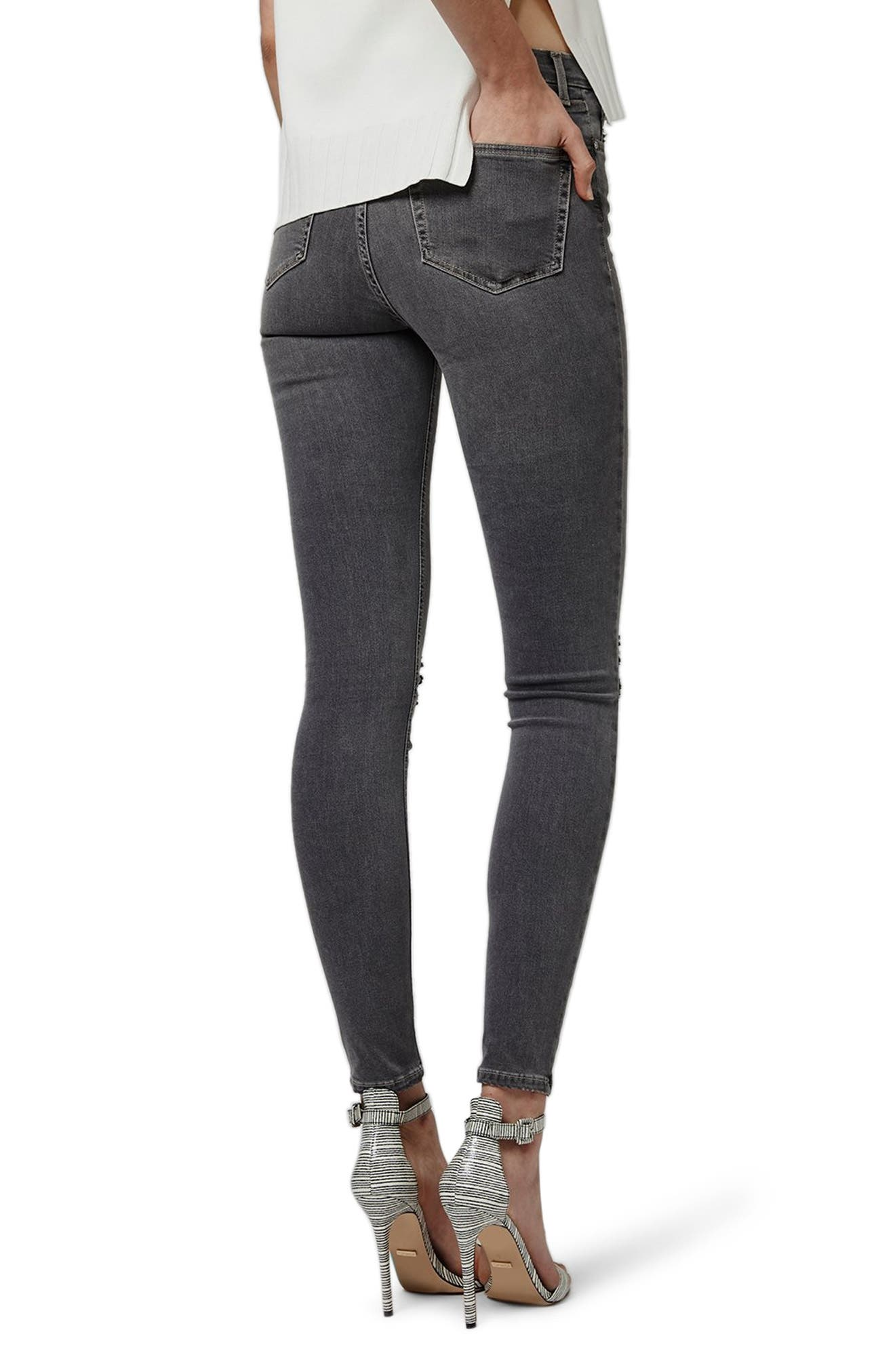 Jamie Ripped Skinny Jeans,                             Alternate thumbnail 2, color,                             GREY