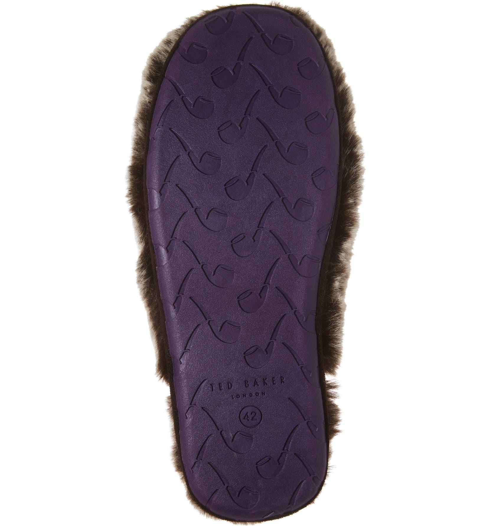 3a15a380d86d2d Ted Baker London Nnyah Faux Fur Scuff Slipper (Men)