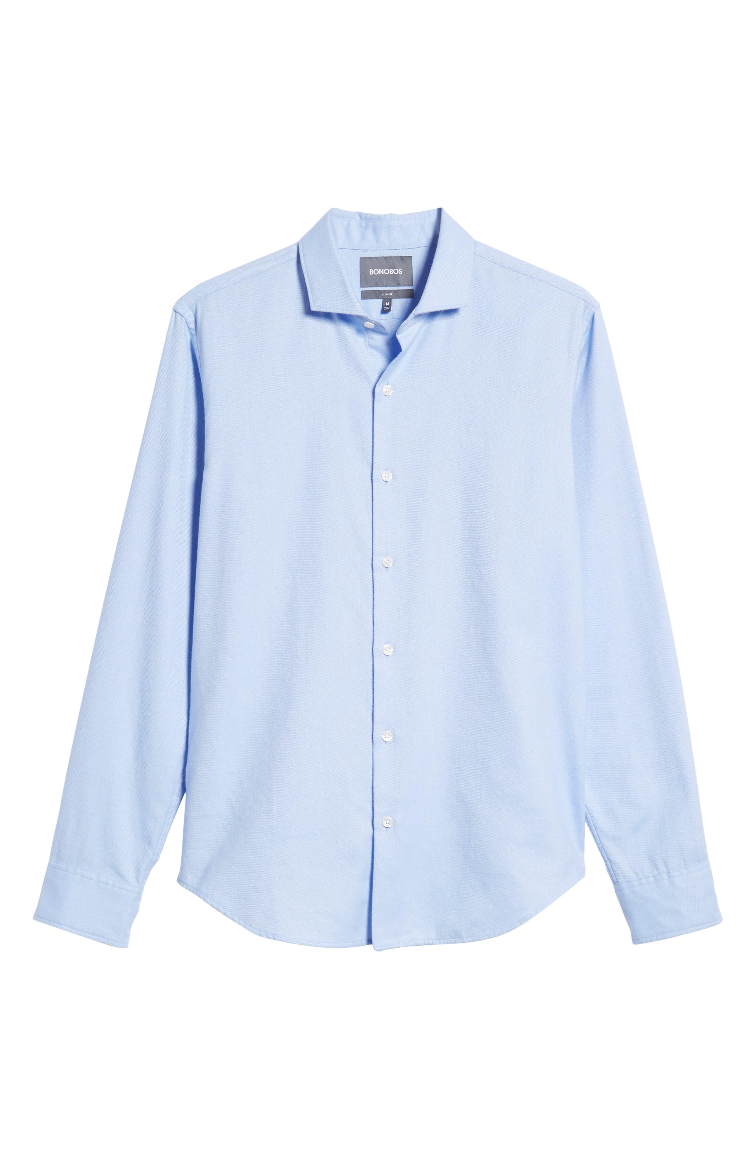 Unbutton Slim Fit Sport Shirt,                             Alternate thumbnail 5, color,                             400