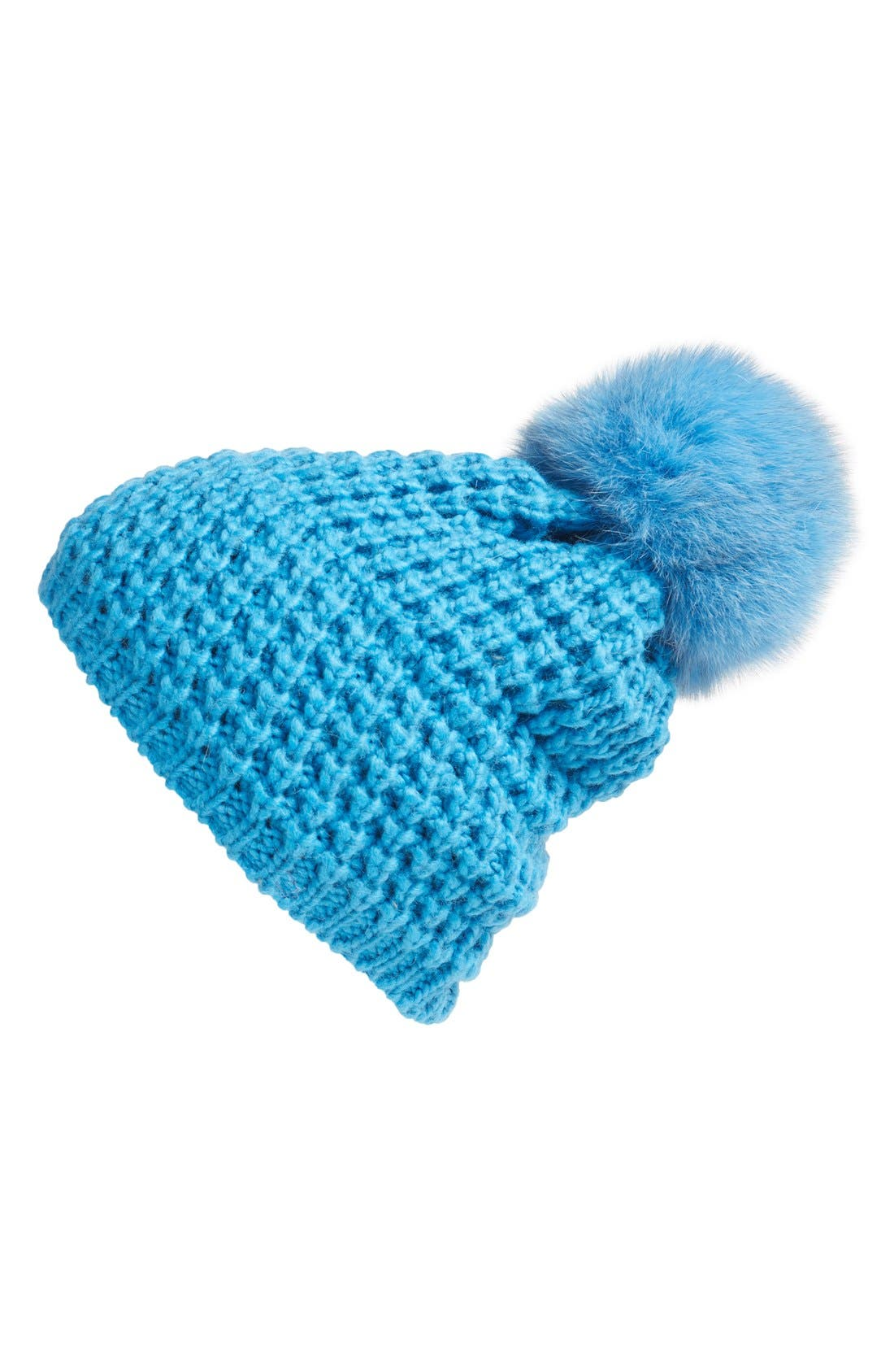 Genuine Fox Pompom Hat,                             Main thumbnail 13, color,