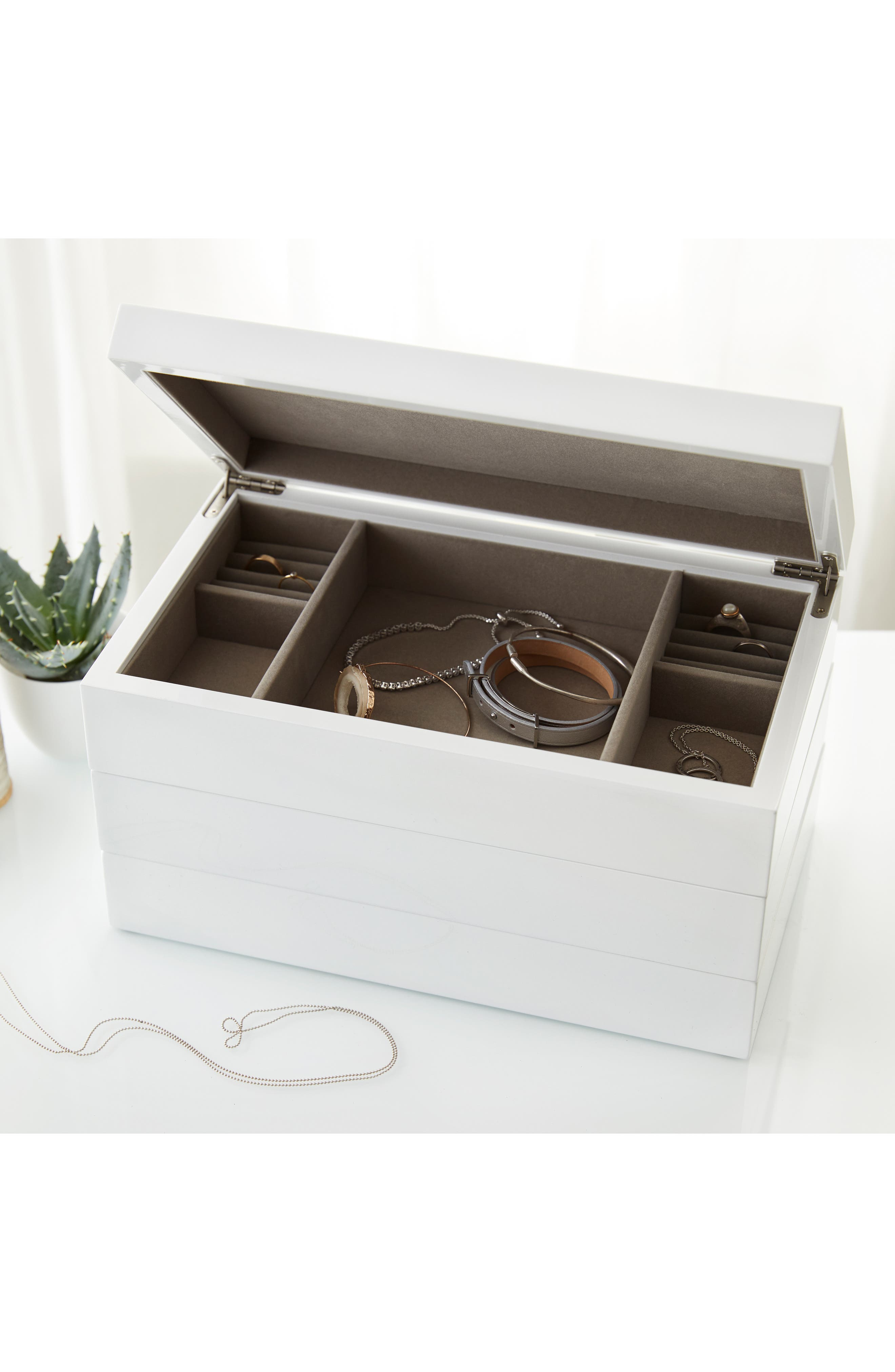 Lacquer Jewelry Box,                             Alternate thumbnail 2, color,                             100