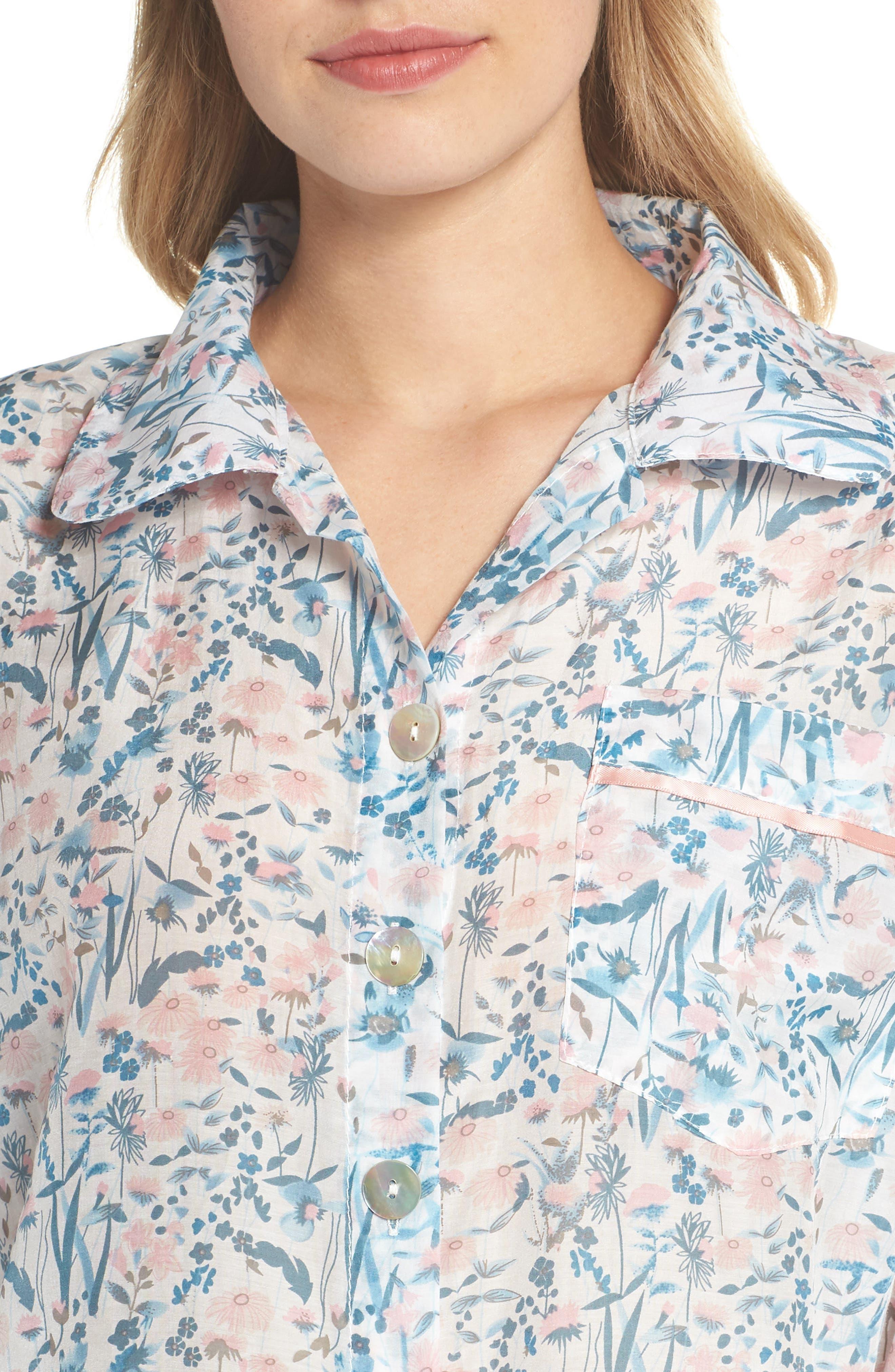Ellie Crop Pajamas,                             Alternate thumbnail 4, color,                             400