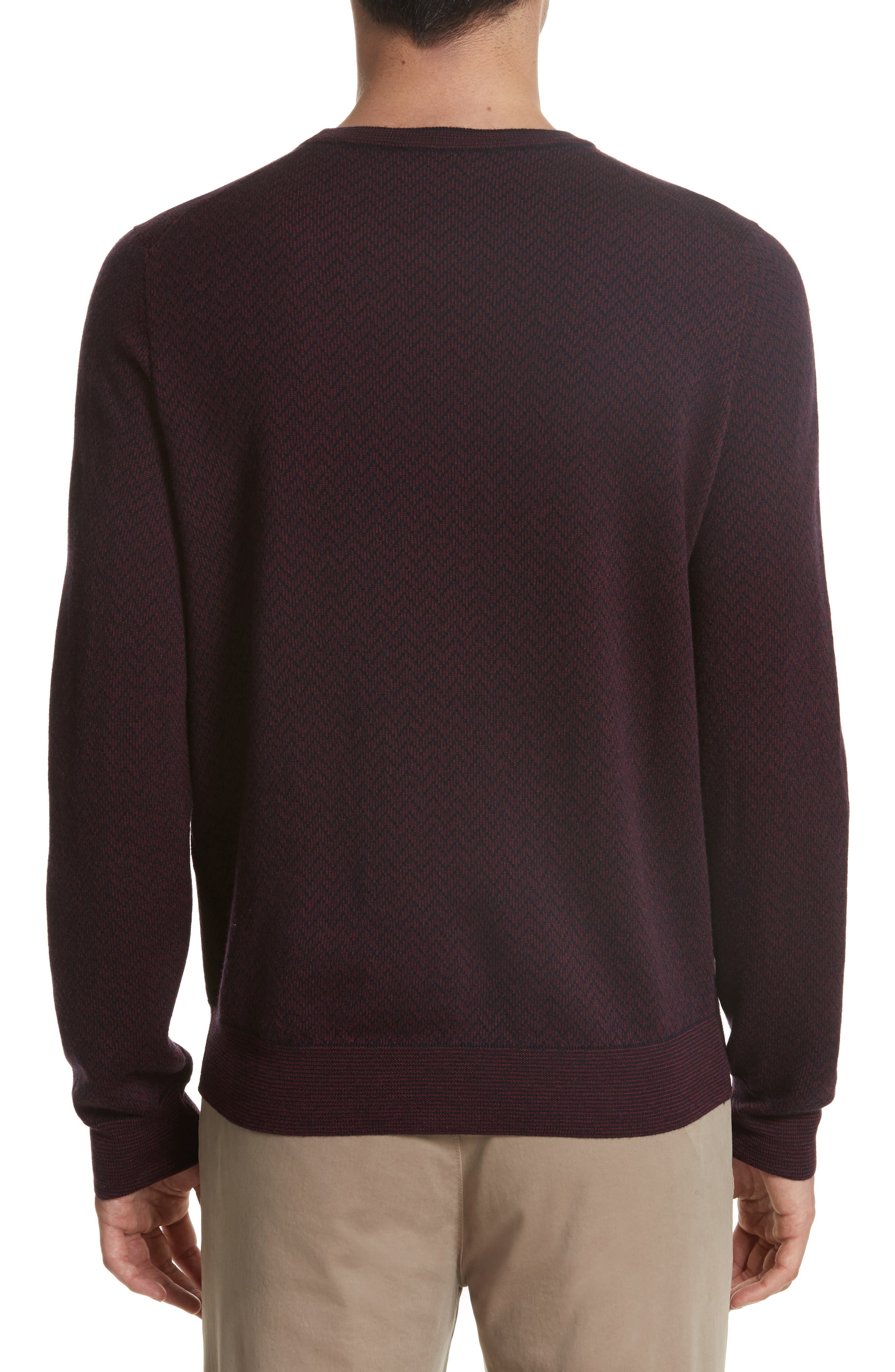 Regular Fit Two-Tone Wool Sweater,                             Alternate thumbnail 2, color,                             601