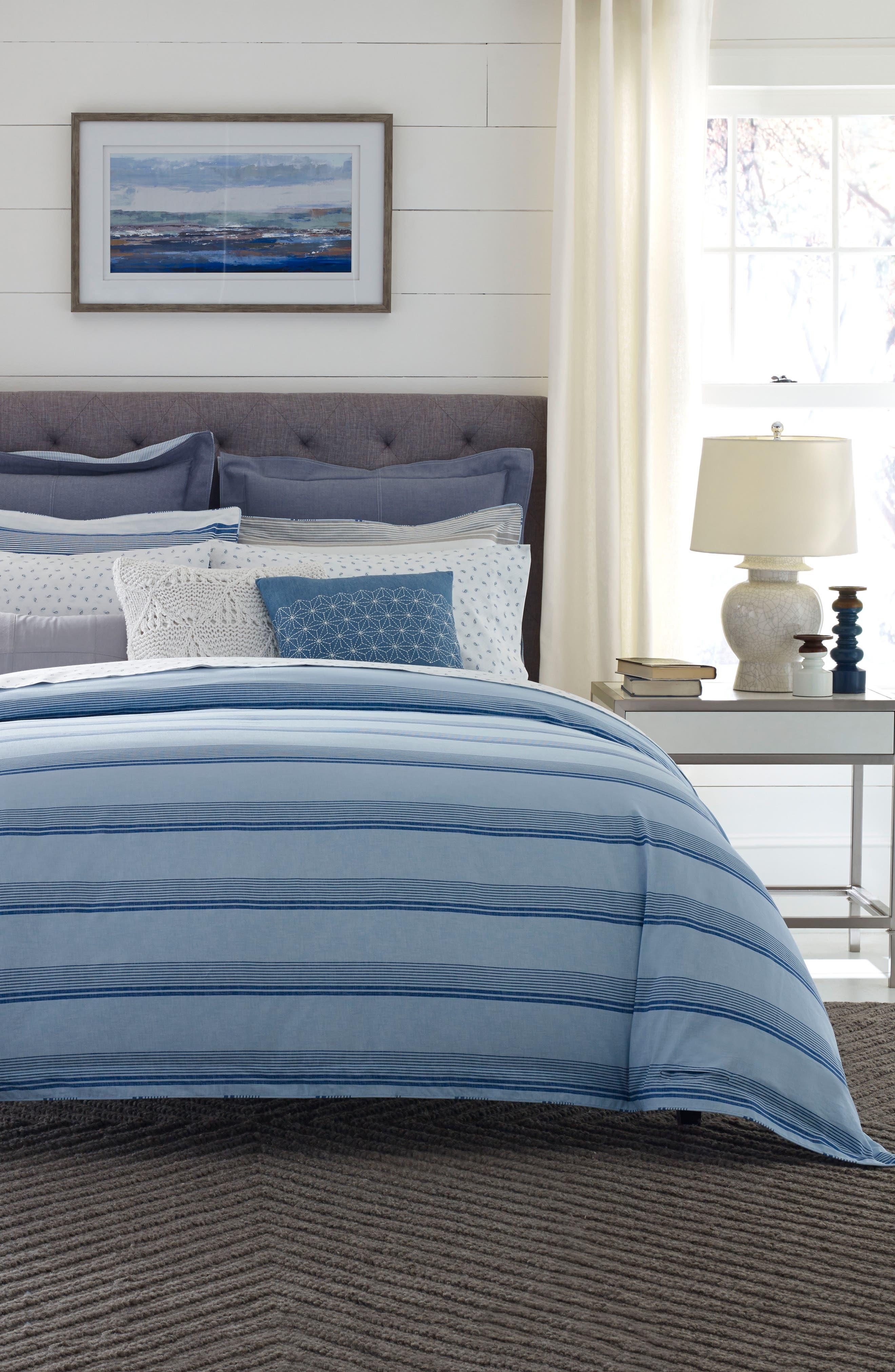 TOMMY HILFIGER,                             Westbourne Stripe Comforter & Sham Set,                             Alternate thumbnail 2, color,                             400