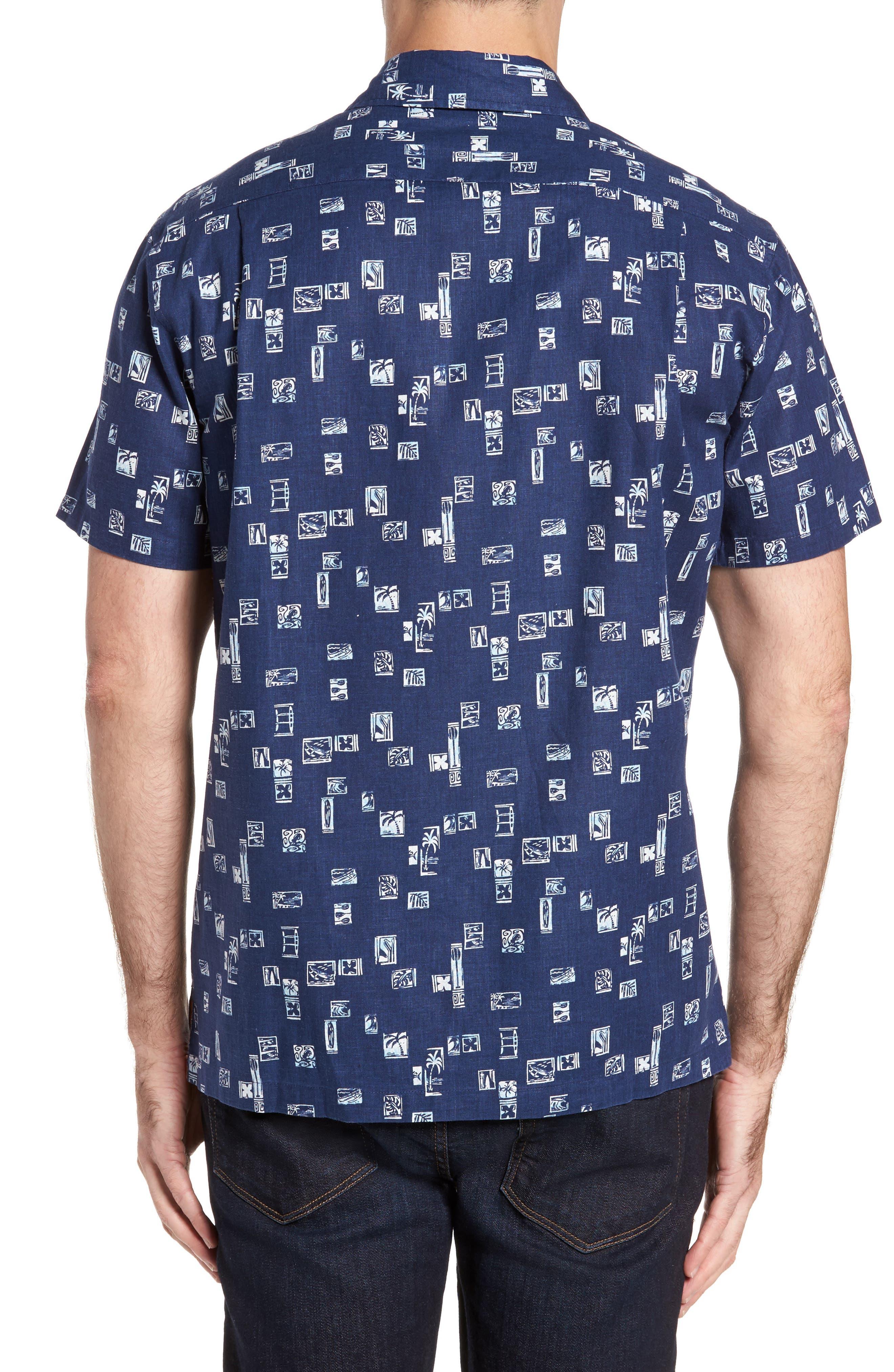 Beach Party Trim Fit Print Sport Shirt,                             Alternate thumbnail 2, color,                             415