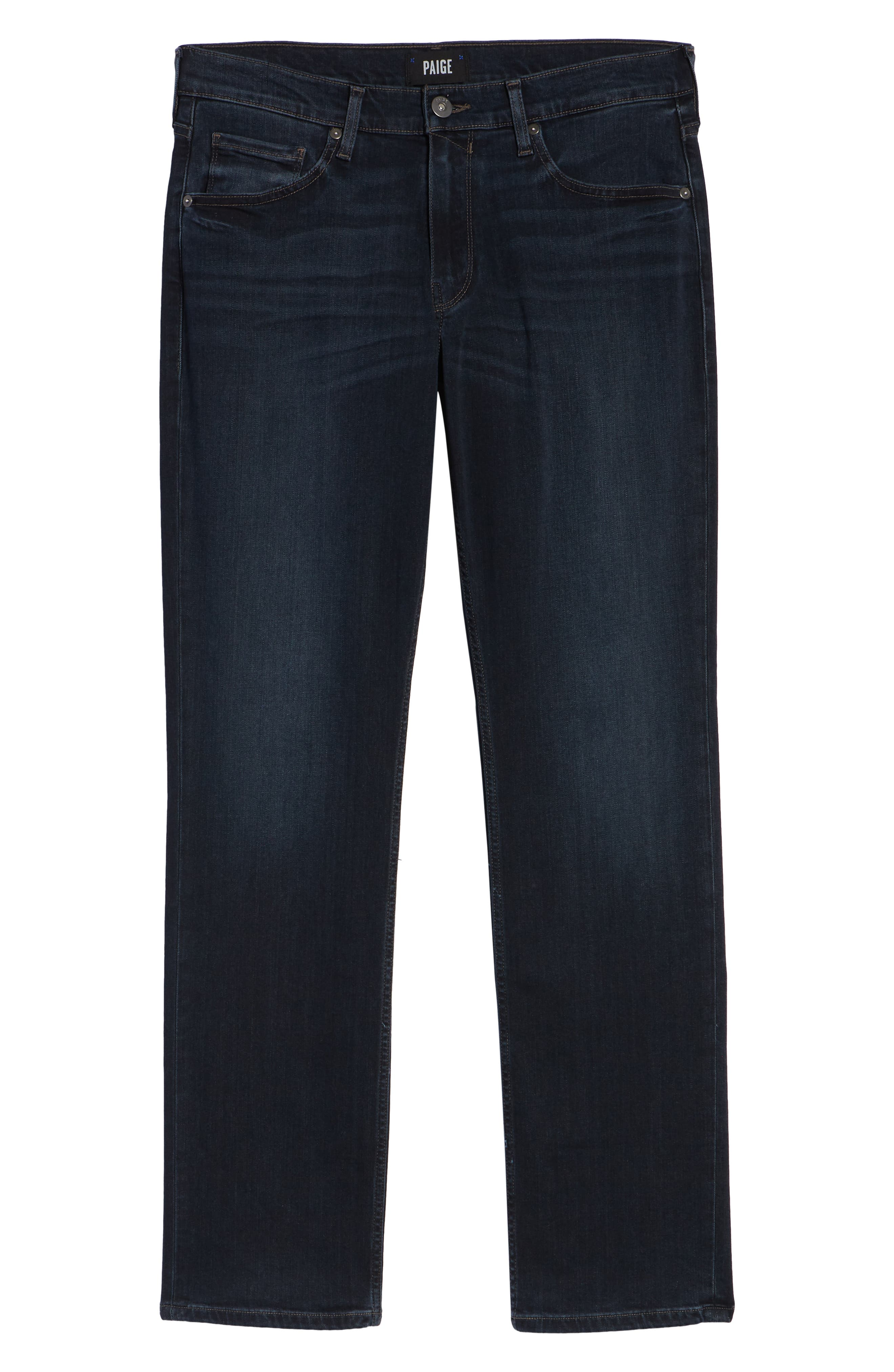 Transcend - Normandie Straight Leg Jeans,                             Alternate thumbnail 6, color,                             LARK