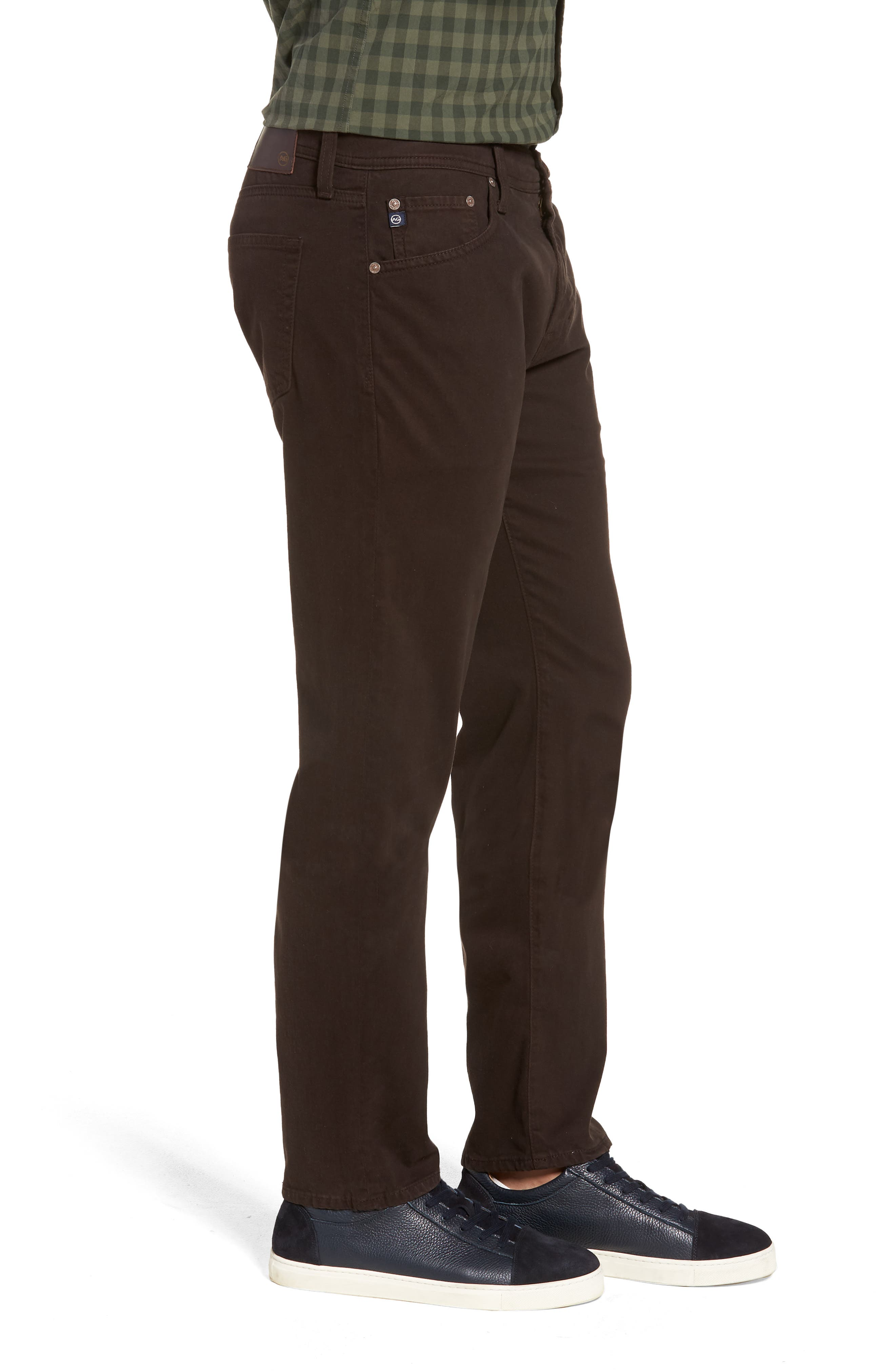 Tellis SUD Modern Slim Stretch Twill Pants,                             Alternate thumbnail 3, color,                             SHUTTER BROWN