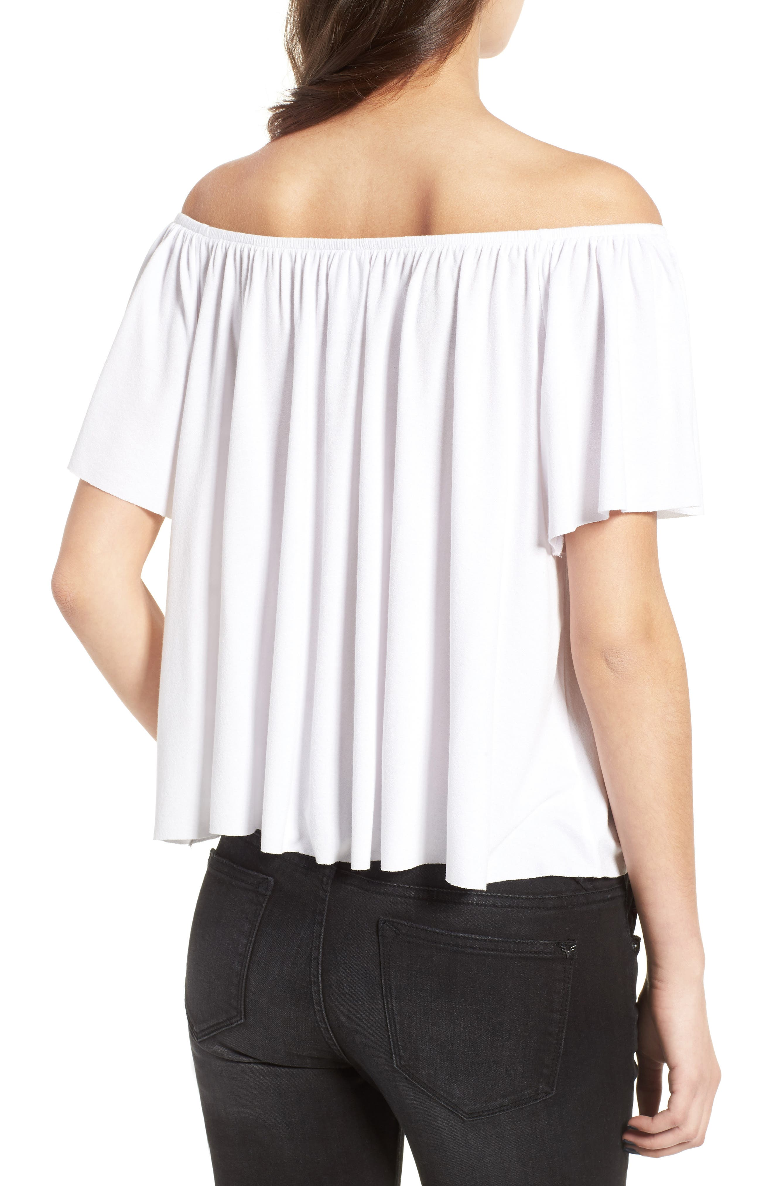 Off the Shoulder Top,                             Alternate thumbnail 13, color,