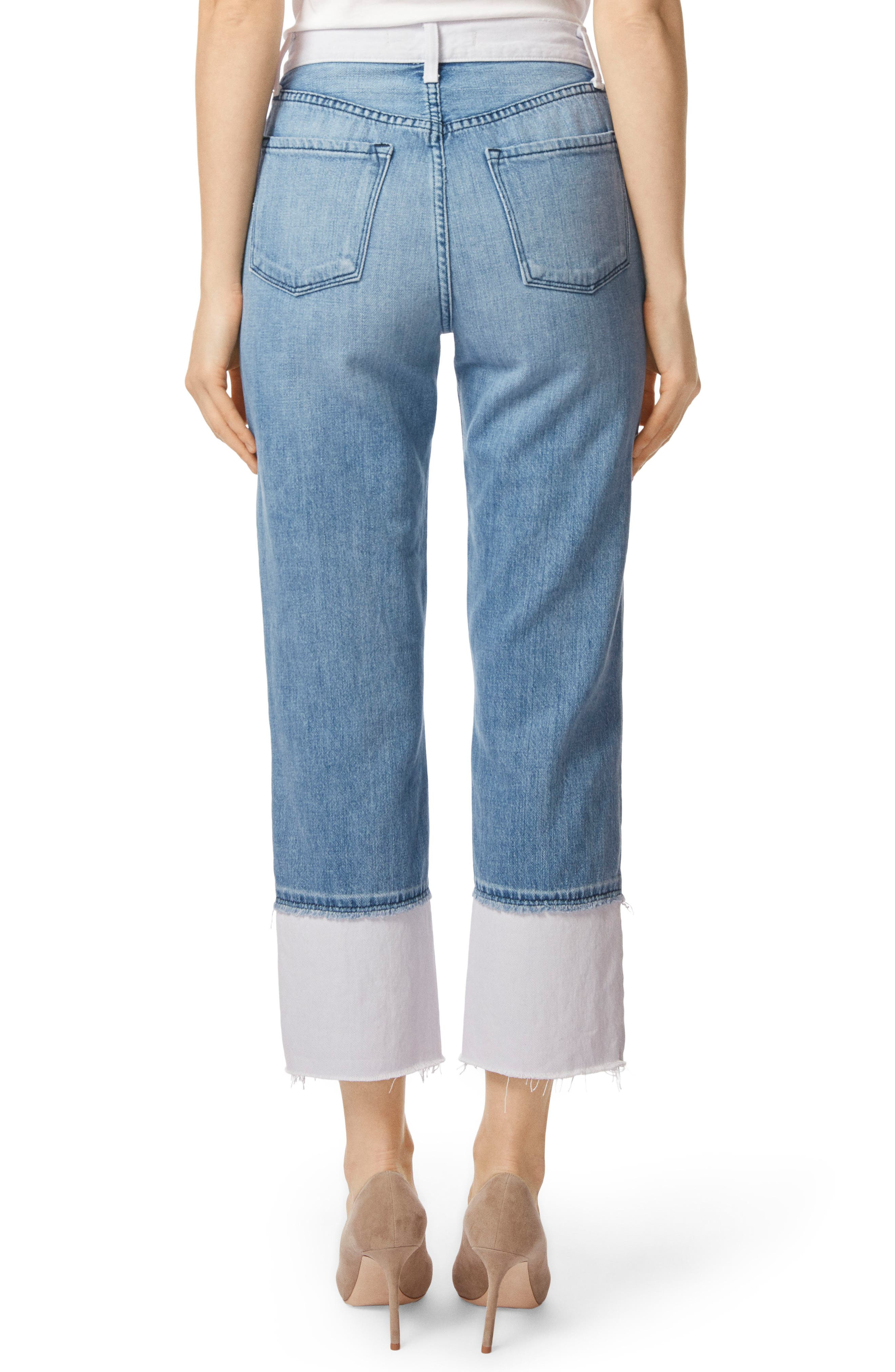 Wynne High Waist Crop Straight Leg Jeans,                             Alternate thumbnail 2, color,                             450