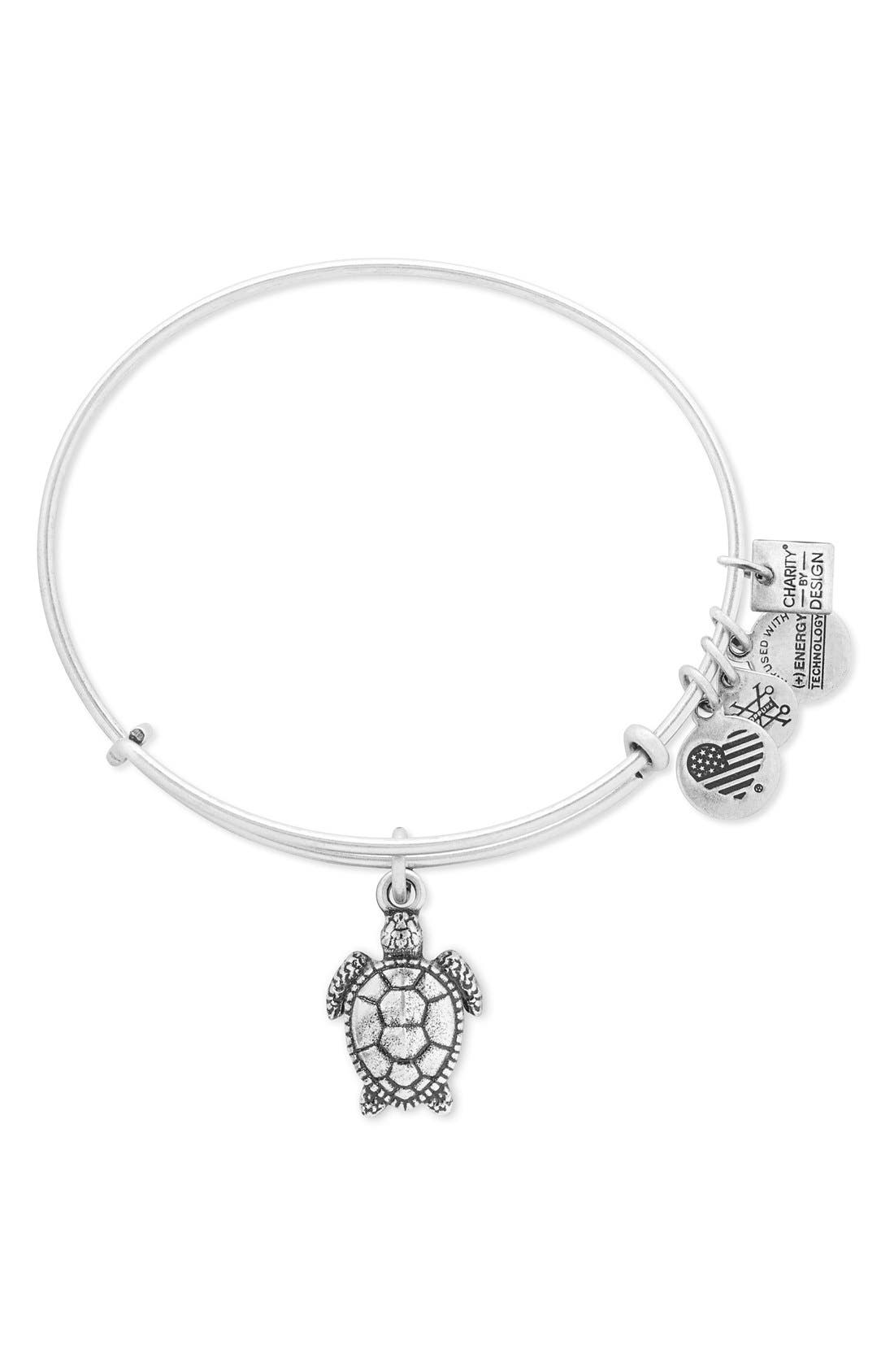 Sea Turtle Adjustable Wire Bangle,                             Main thumbnail 1, color,                             040