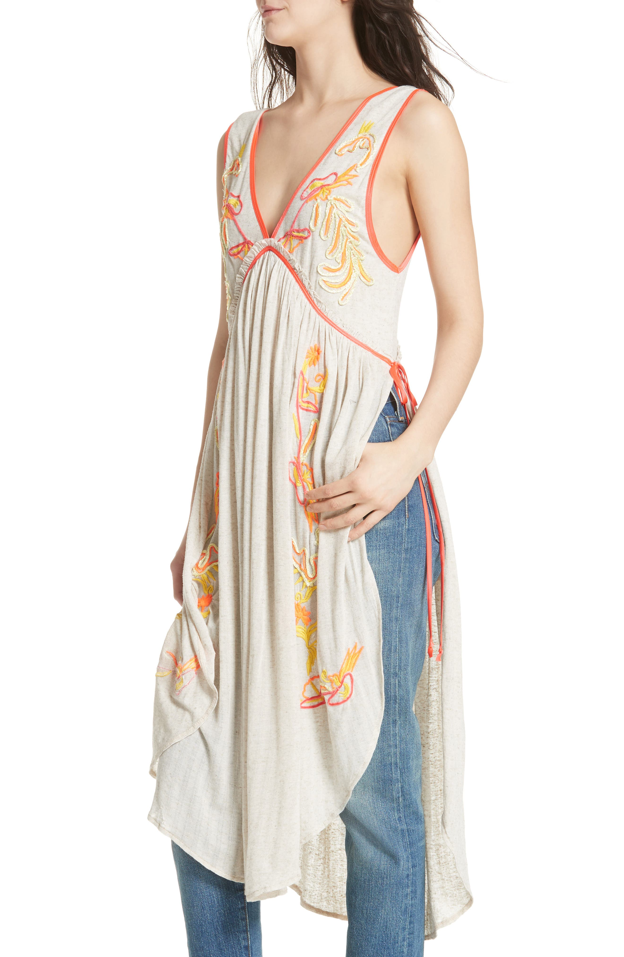 Summer Lovin' Embroidered Tunic,                             Alternate thumbnail 4, color,                             902