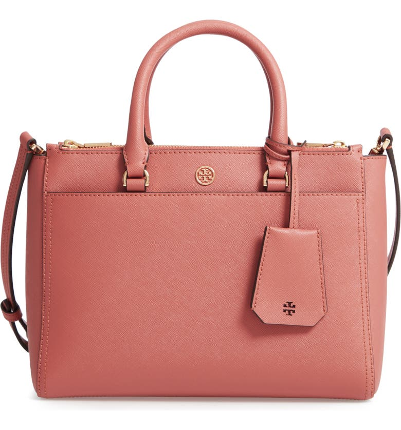 Tory Burch Small Robinson Double-Zip Leather Tote | Nordstrom