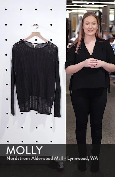 Open Knit Organic Linen Blend Sweater, sales video thumbnail