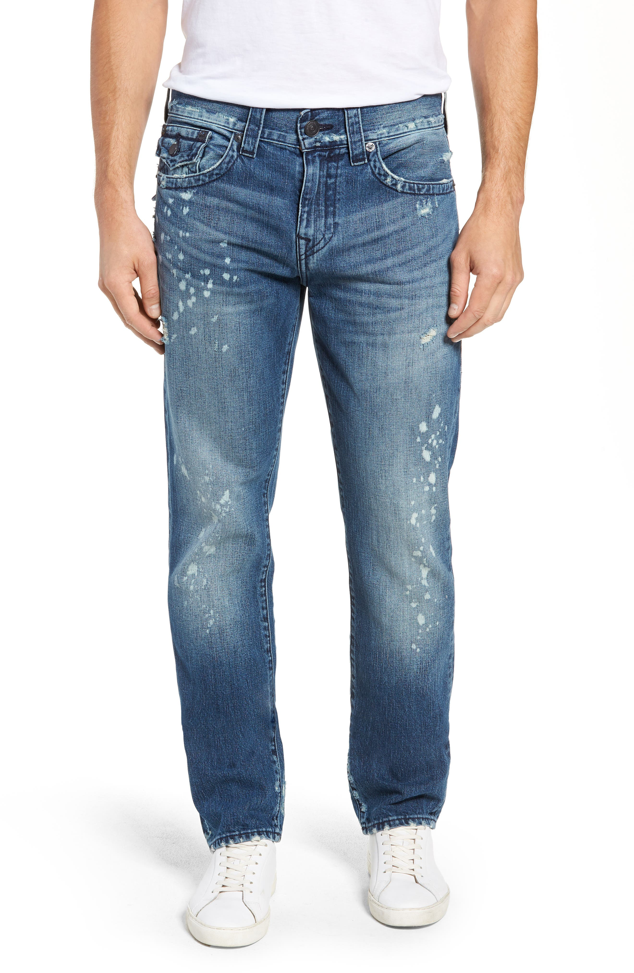 Geno Straight Fit Jeans,                             Main thumbnail 1, color,                             WORN PASTURE