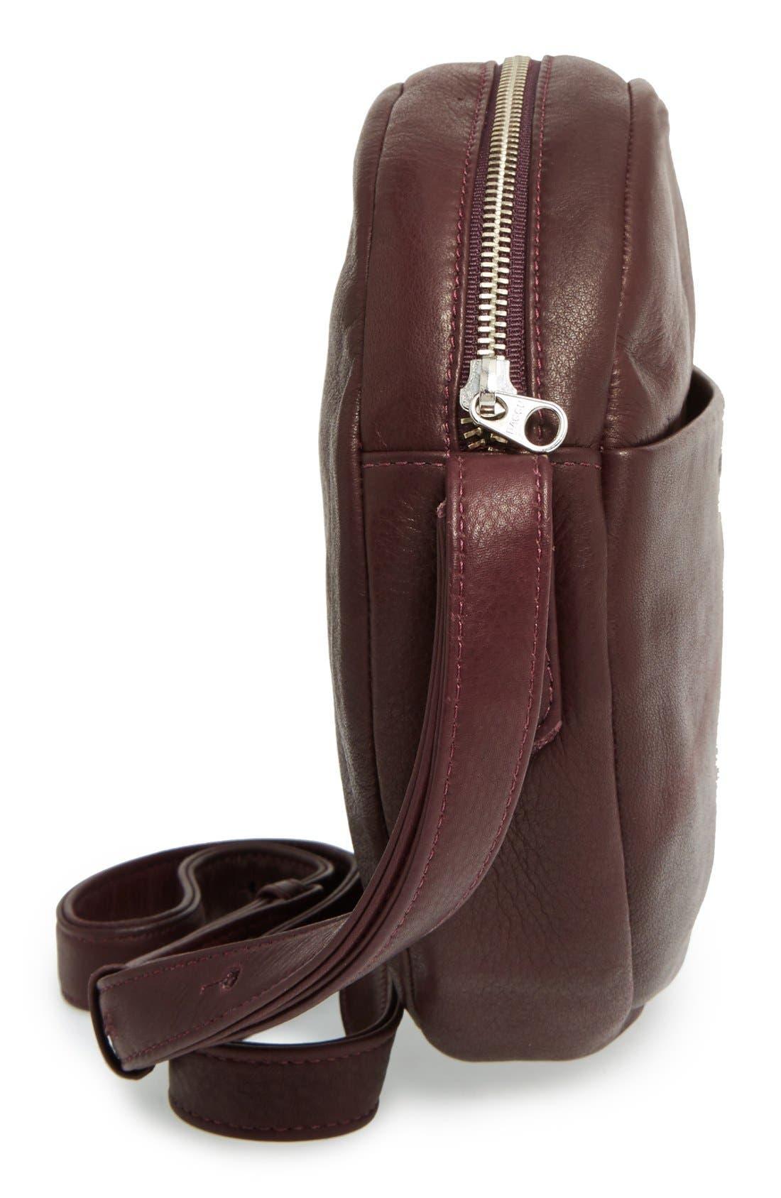 Pebbled Leather Crossbody Bag,                             Alternate thumbnail 22, color,