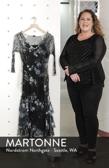 Floral Tiered Hem Chiffon Dress, sales video thumbnail