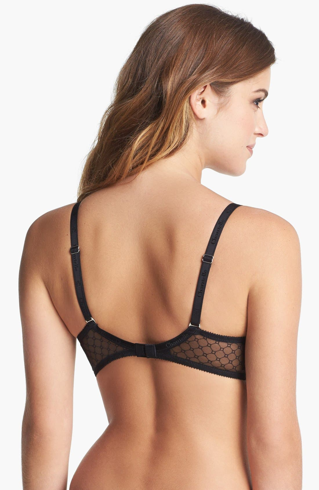 CHANTELLE INTIMATES,                             'C Chic Sexy' Underwire Push-Up Plunge Bra,                             Alternate thumbnail 2, color,                             001