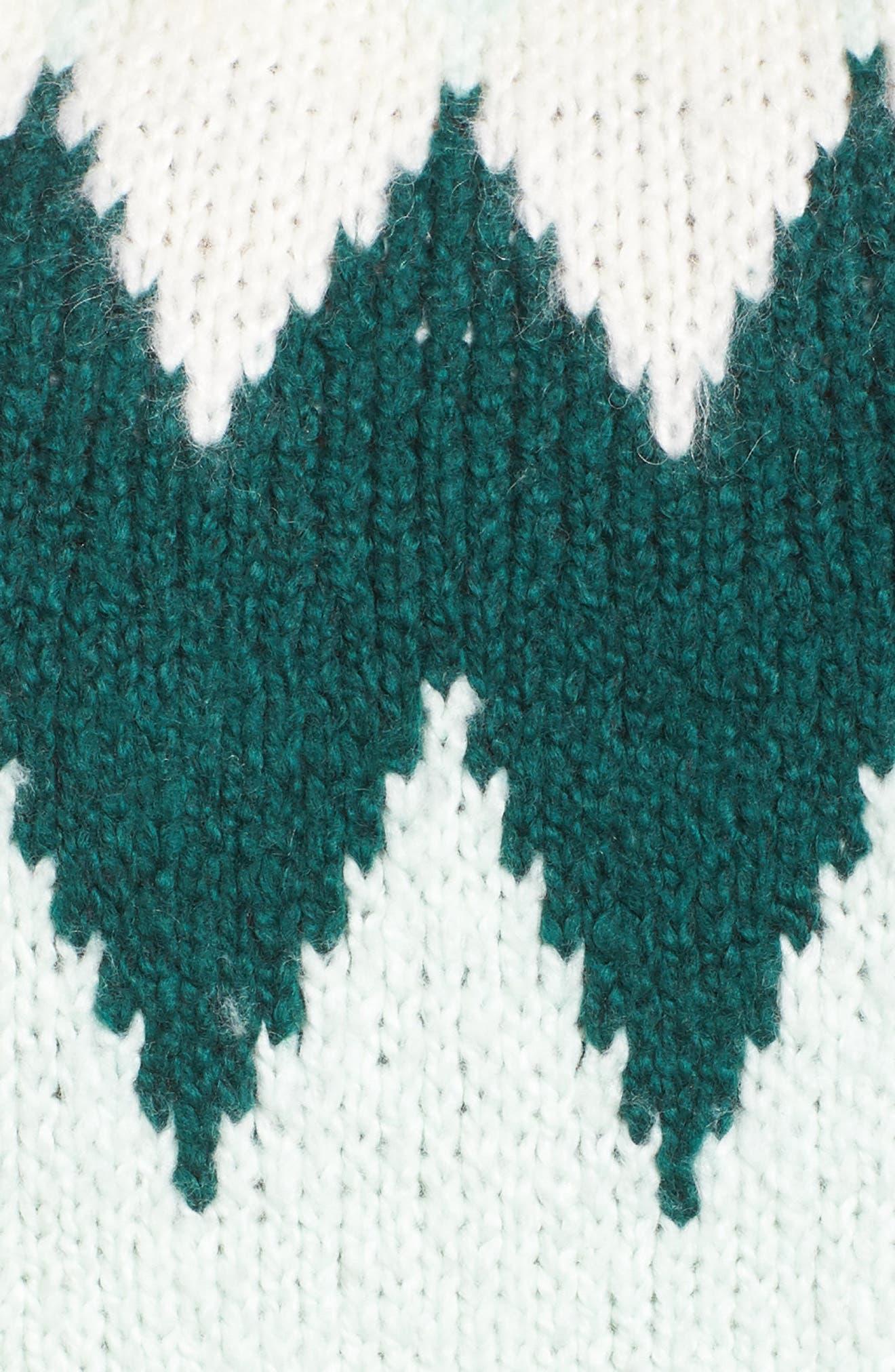Cozy Ski Sweater,                             Alternate thumbnail 5, color,                             GREEN PLACID FAIRISLE