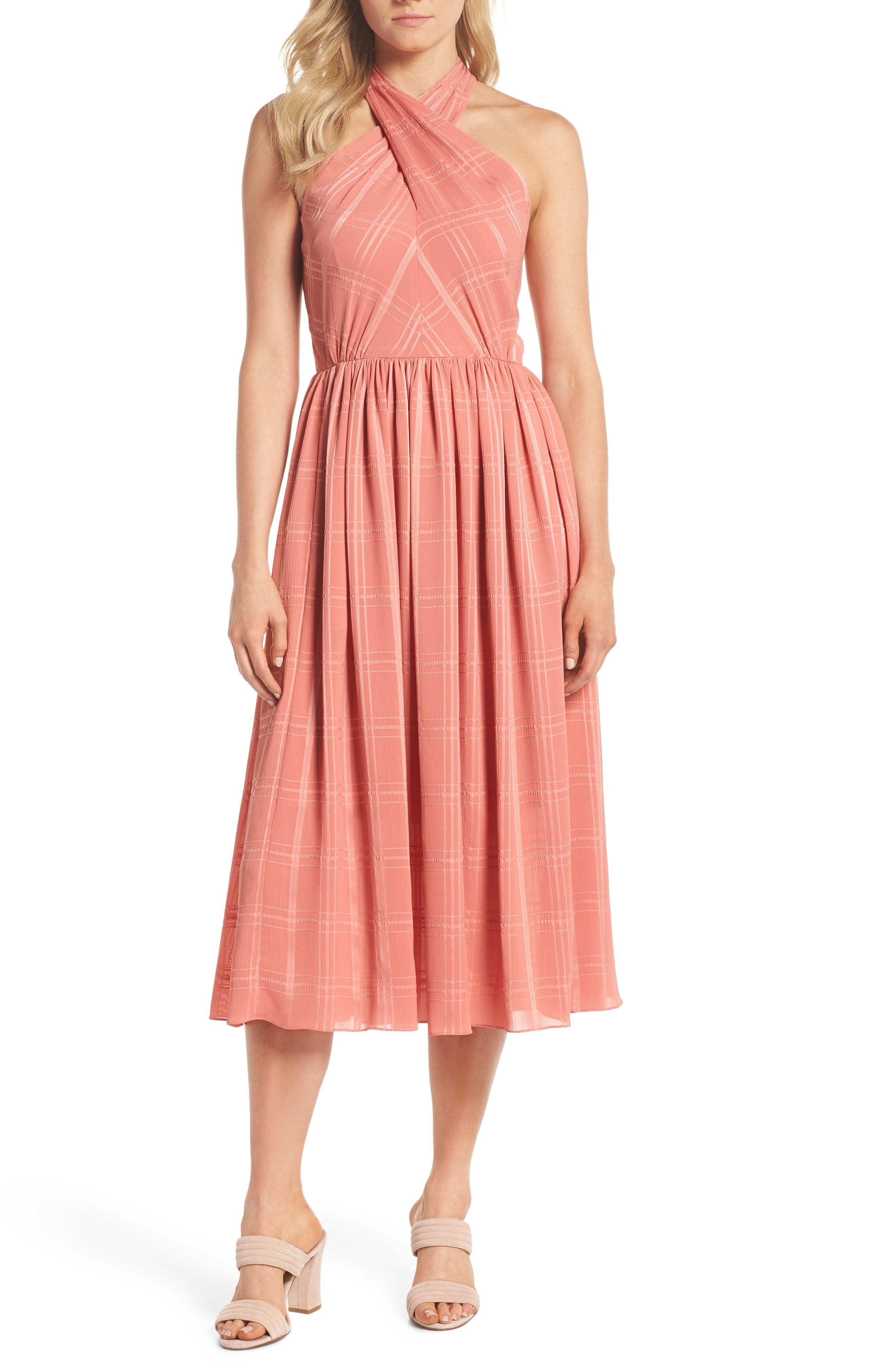 Mia Twist Chiffon Midi Dress,                             Main thumbnail 1, color,                             681