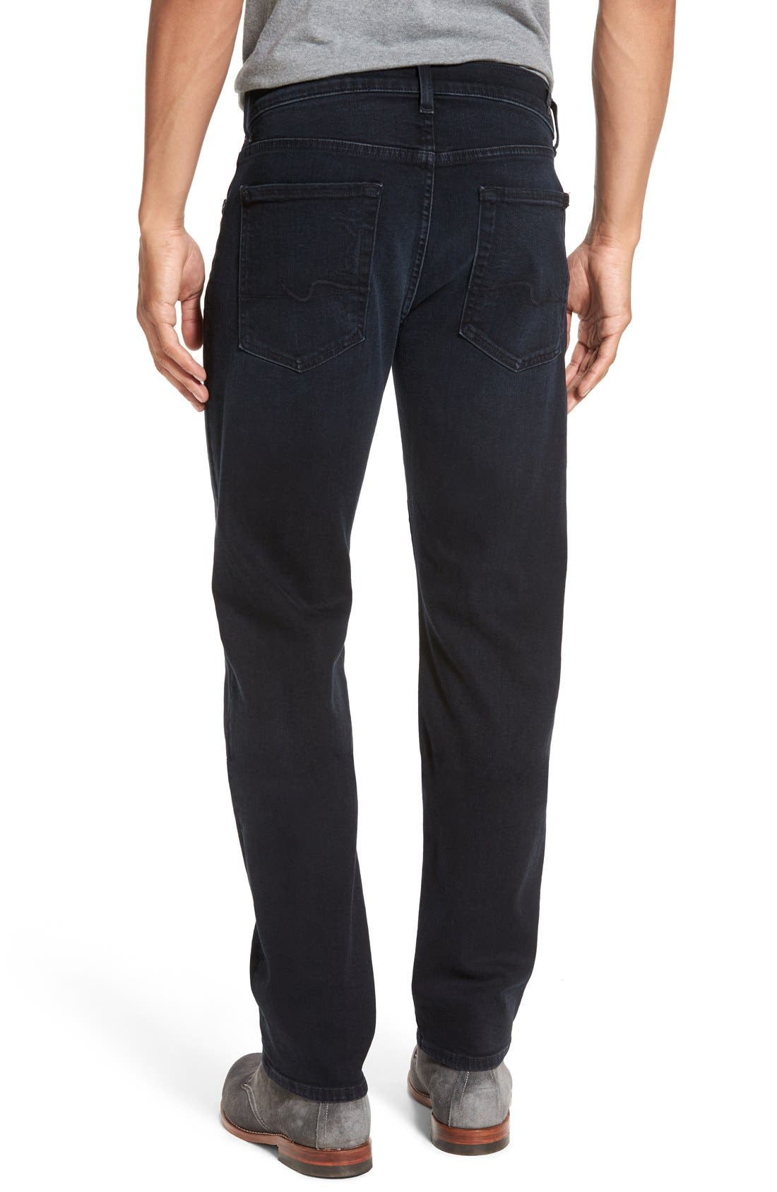 'Slimmy - Luxe Performance' Slim Fit Jeans,                             Alternate thumbnail 3, color,                             401