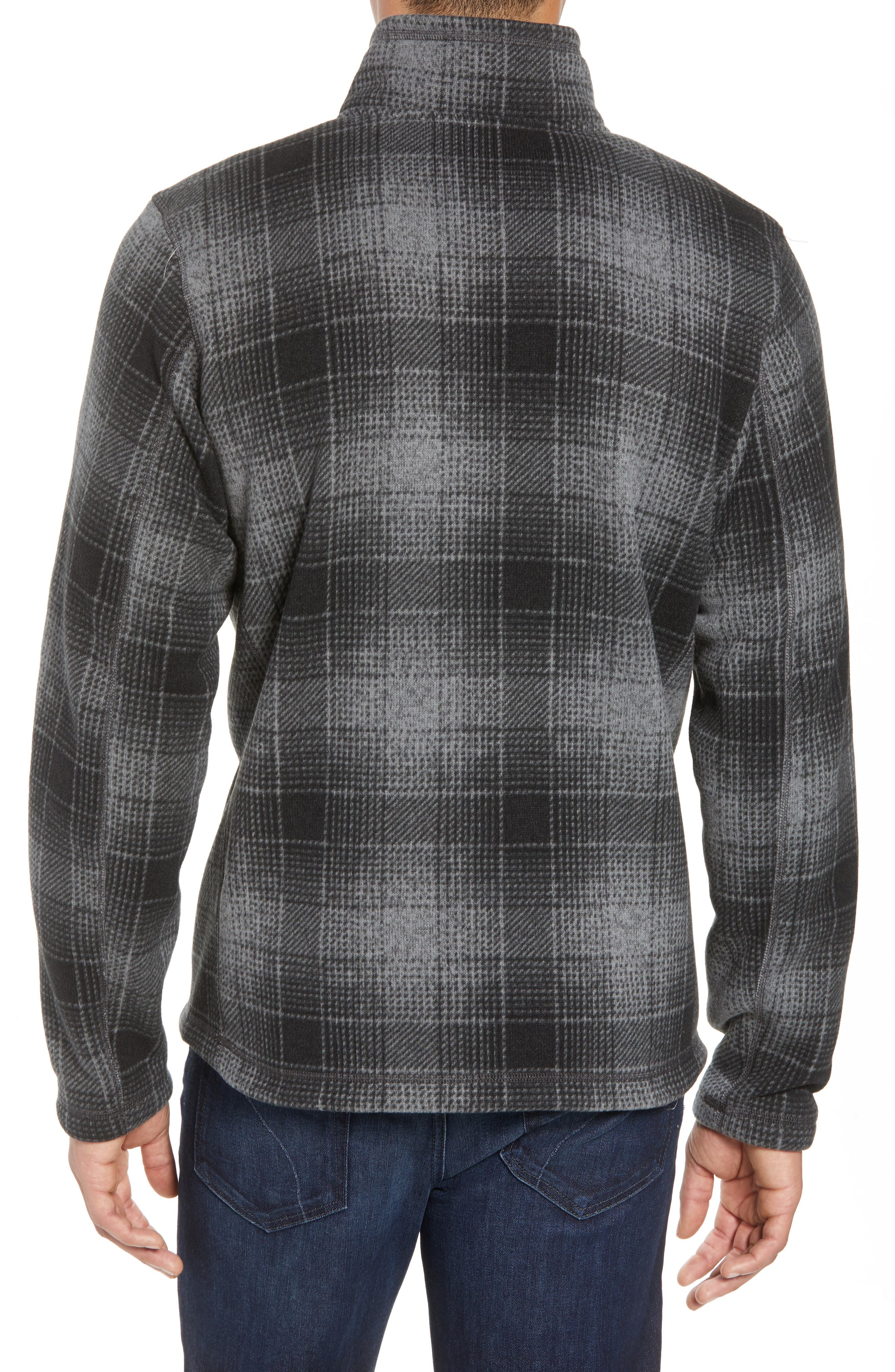 Novelty Gordon Lyons Plaid Pullover,                             Alternate thumbnail 2, color,                             MONUMENT GREY OMBRE PLAID