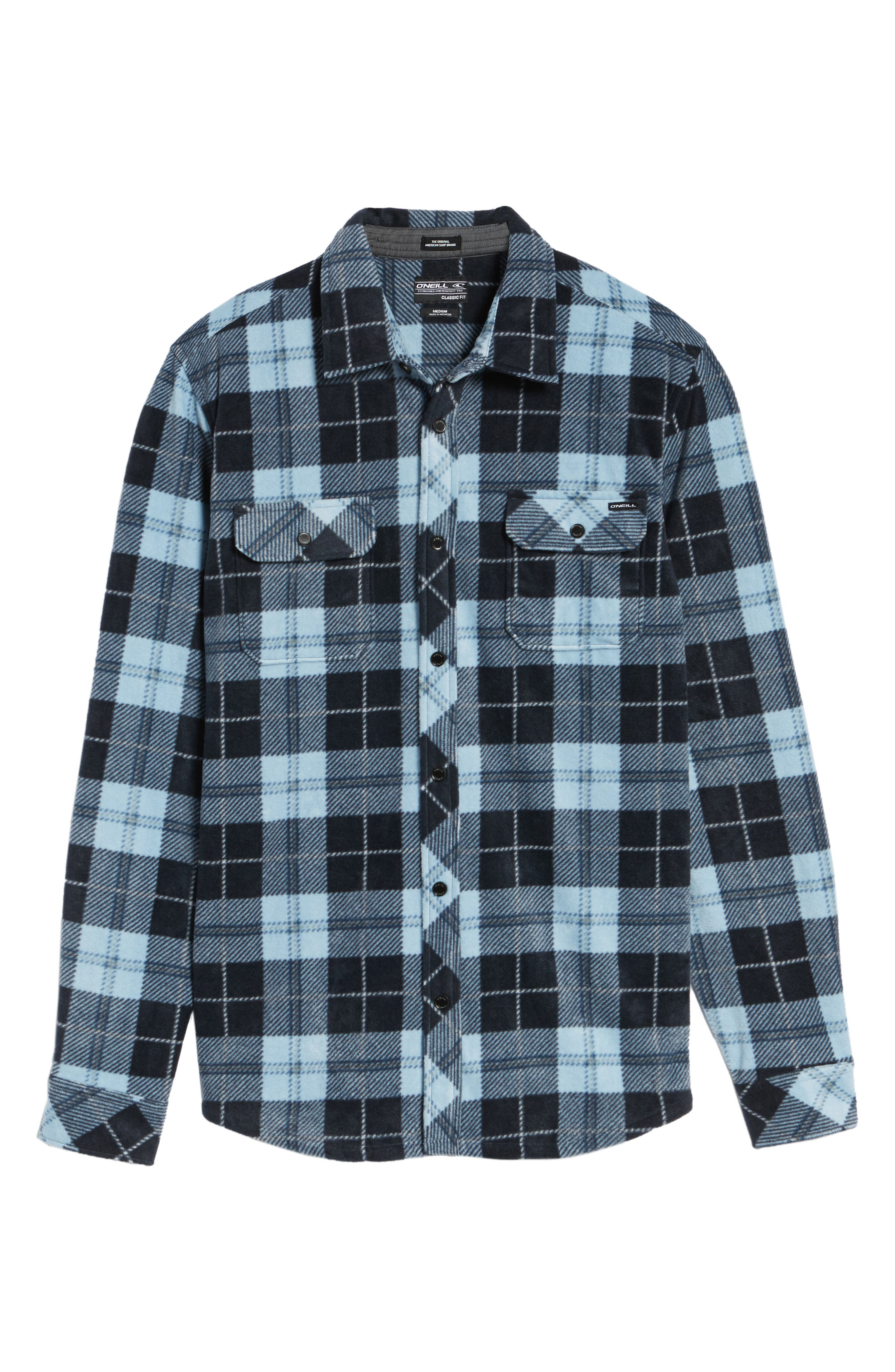 Glacier Plaid Fleece Flannel Shirt,                             Alternate thumbnail 30, color,