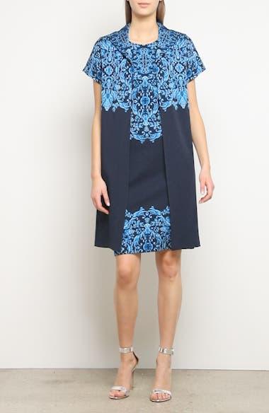 Cool Tones Brocade Knit Dress, video thumbnail