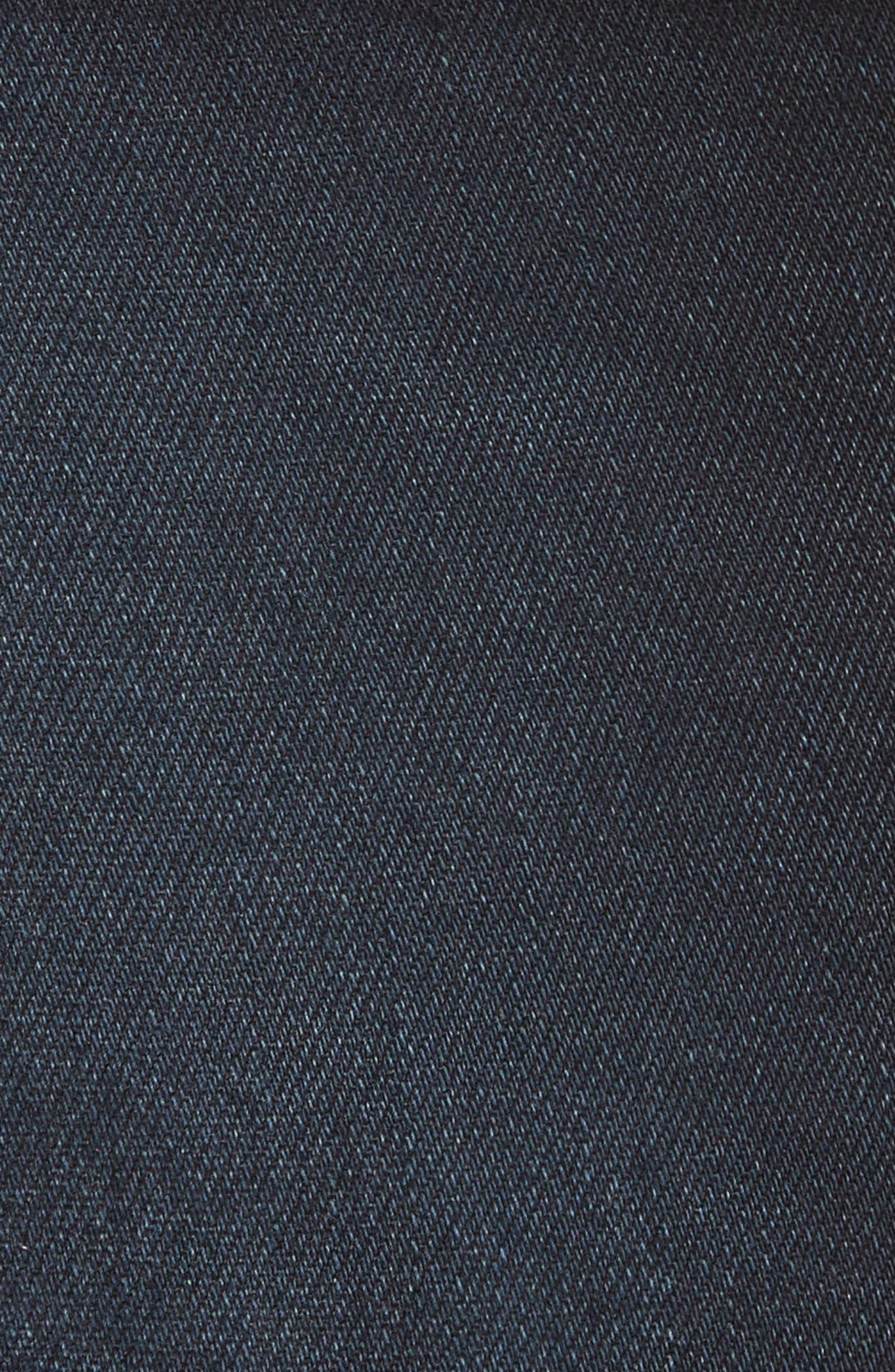 Carolyn Stripe Waist Crop Flare Jeans,                             Alternate thumbnail 5, color,                             DARK SLATE