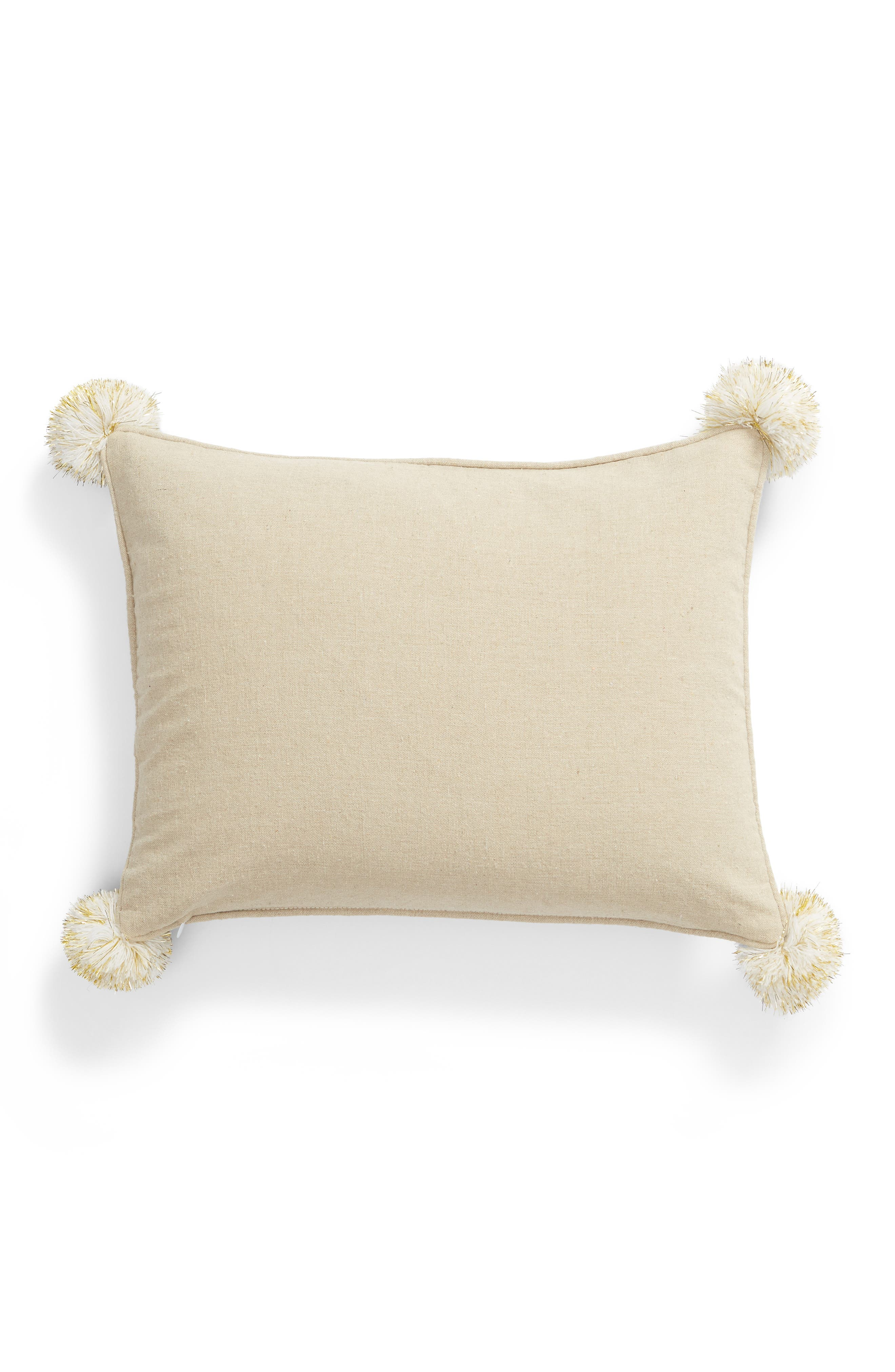 Emory Pom Elephant Accent Pillow,                             Alternate thumbnail 2, color,                             400