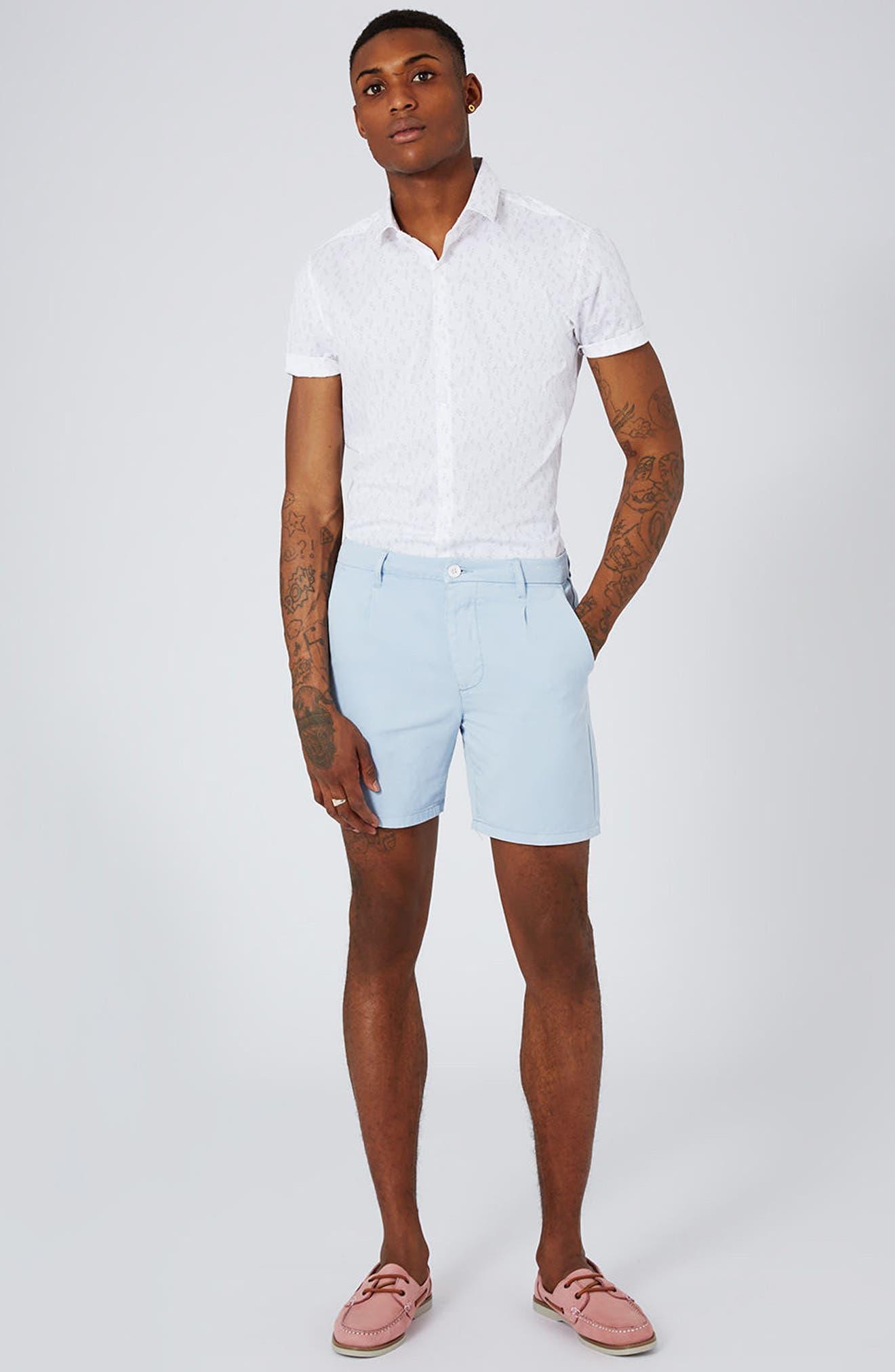 Slim Fit Geo Print Woven Shirt,                             Alternate thumbnail 4, color,                             250