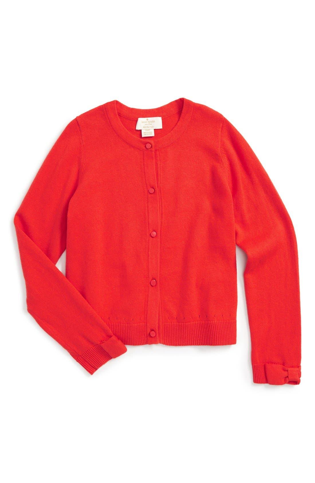 katespade new york kids 'somerset' cardigan, Main, color, 600