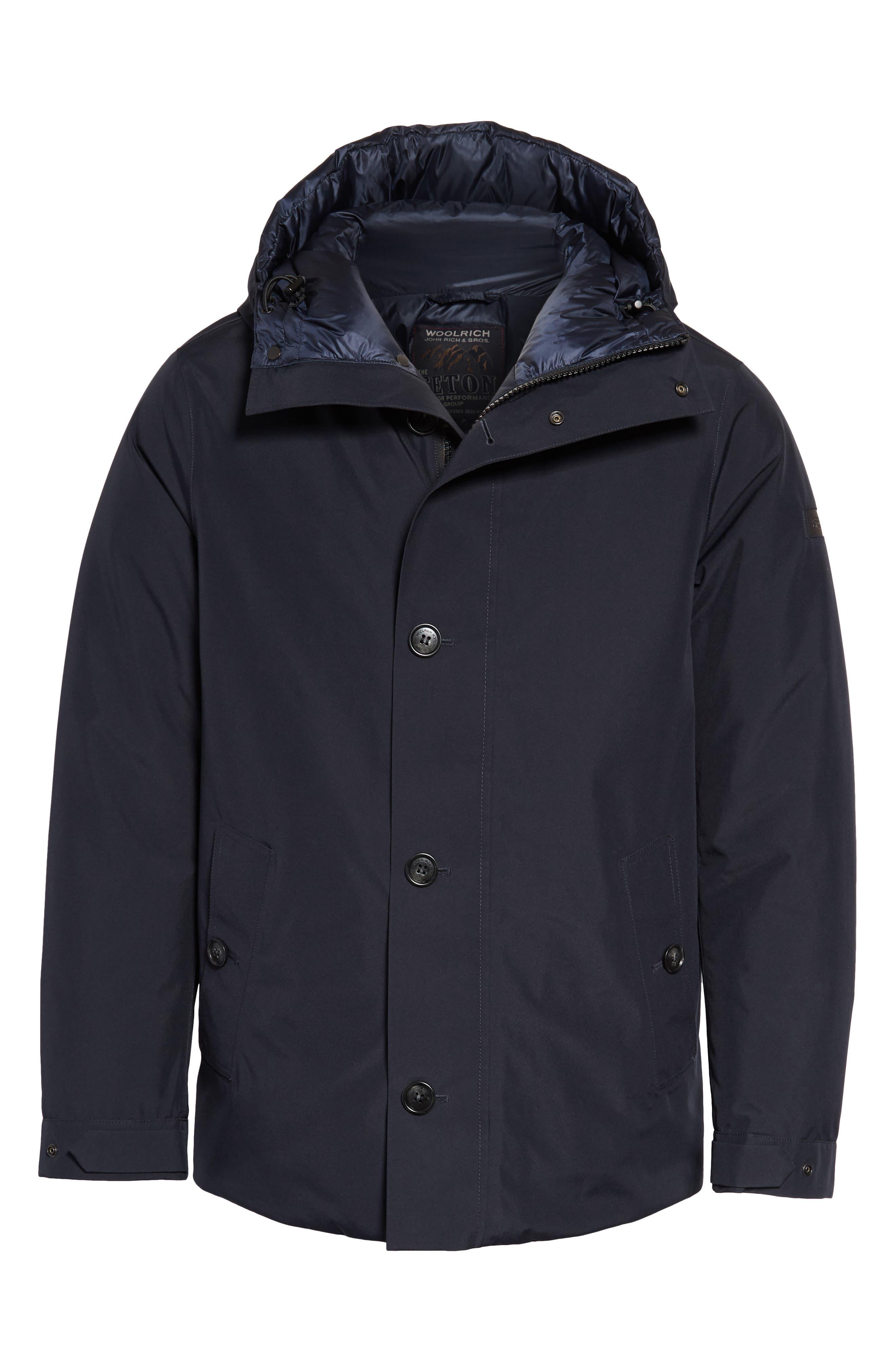 Waterproof Gore-Tex<sup>®</sup> Alpine Jacket,                             Alternate thumbnail 5, color,                             NAVY MELTON