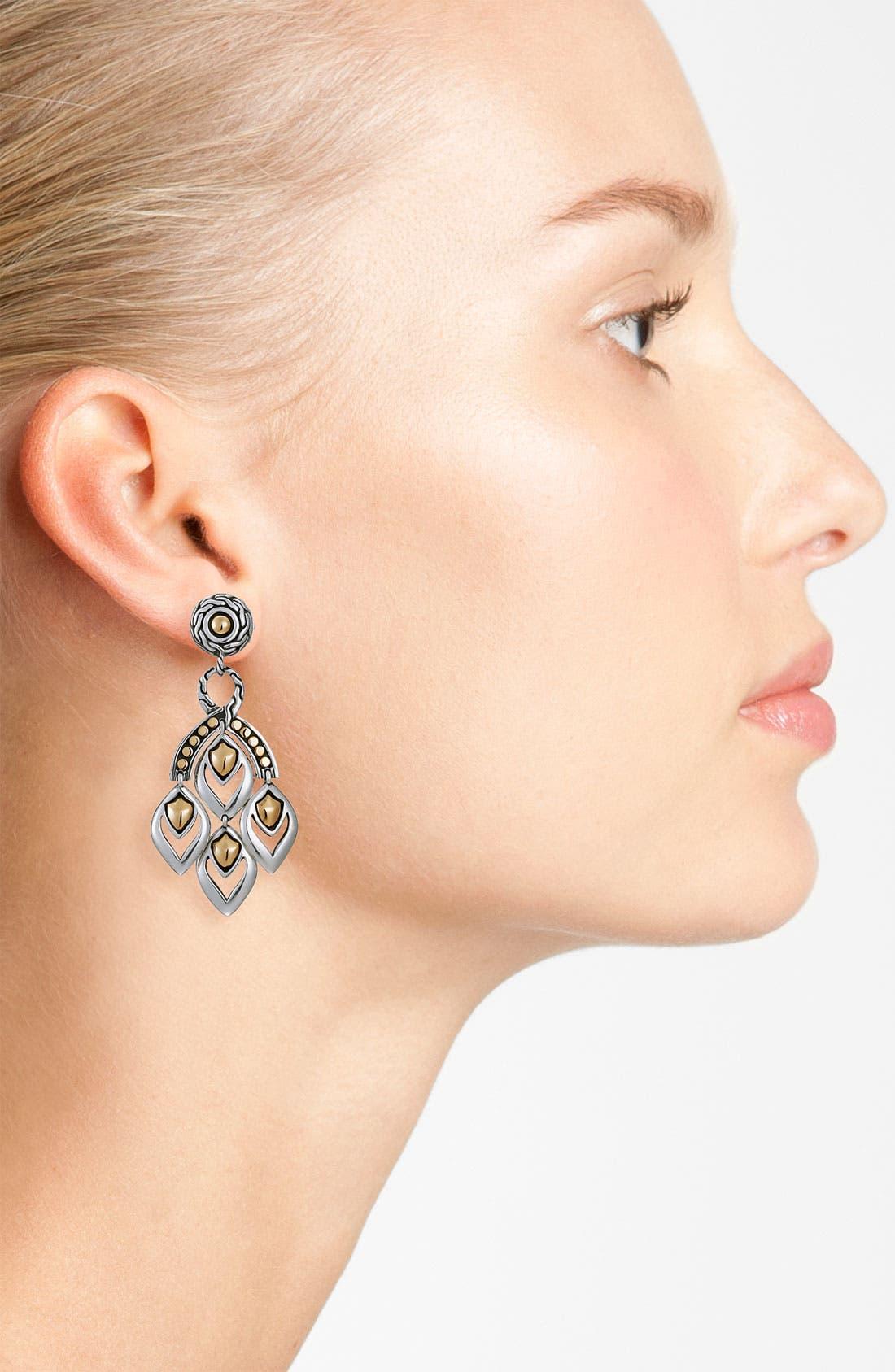 'Naga' Mini Chandelier Earrings,                             Alternate thumbnail 2, color,                             SILVER / GOLD