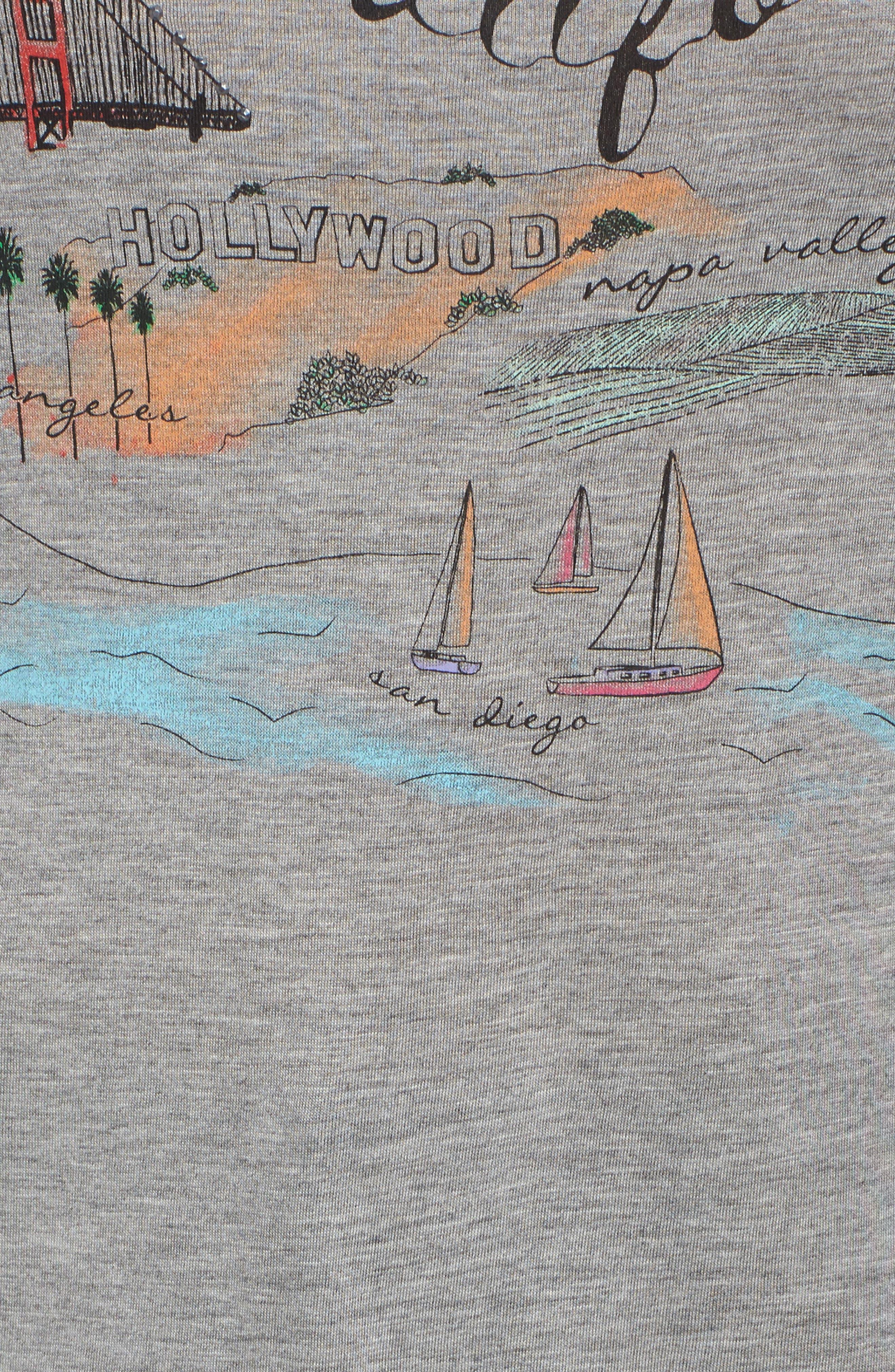 Side Knot Screenprint Tee,                             Alternate thumbnail 5, color,                             099