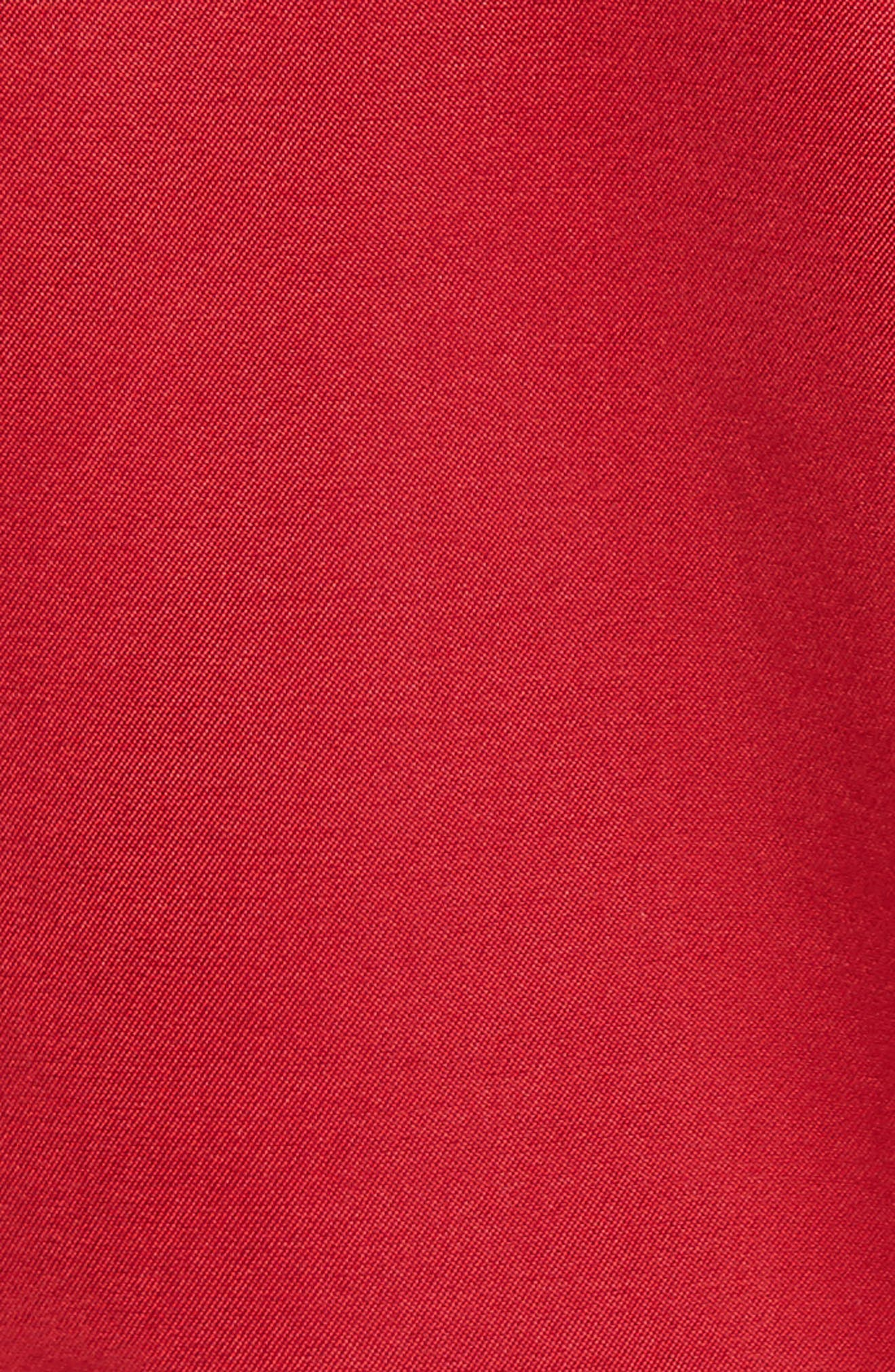 Rockstud Satin Bomber Jacket,                             Alternate thumbnail 6, color,                             RED